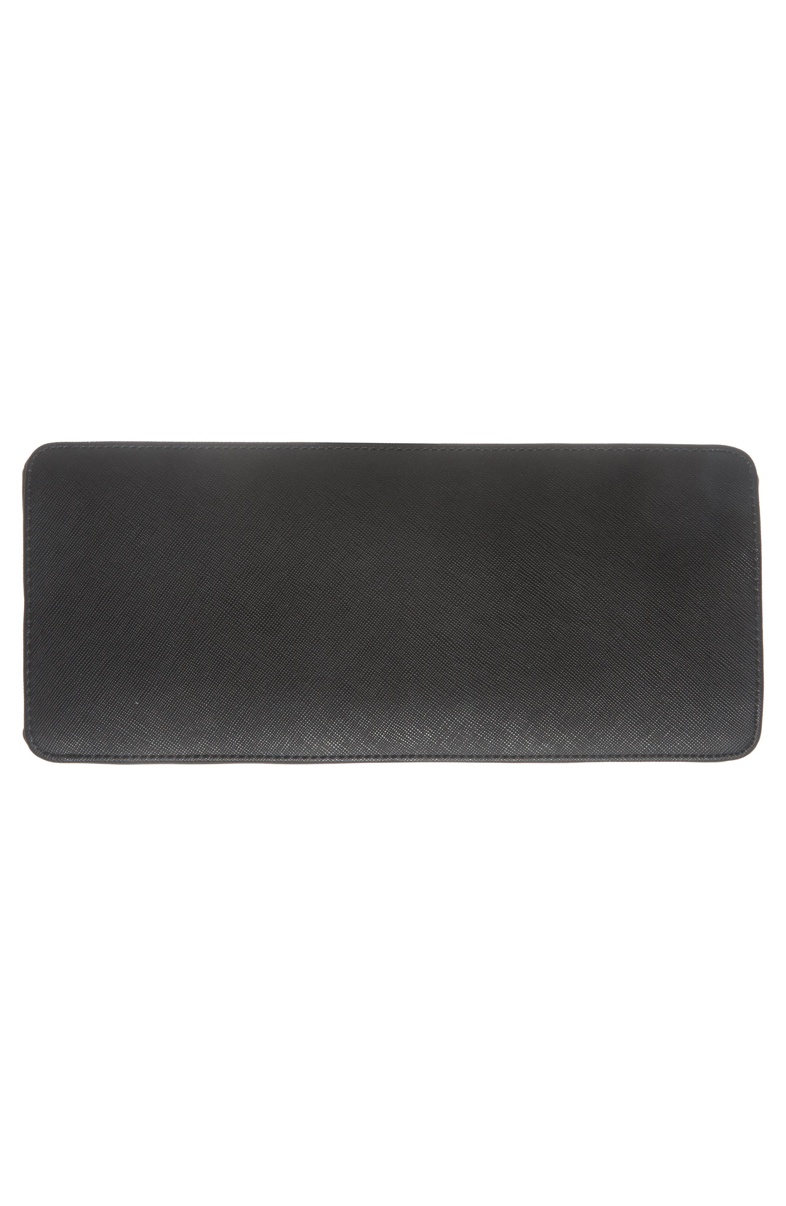 Keiira Lady Bag Faux Leather Top Handle Satchel,                             Alternate thumbnail 6, color,                             001