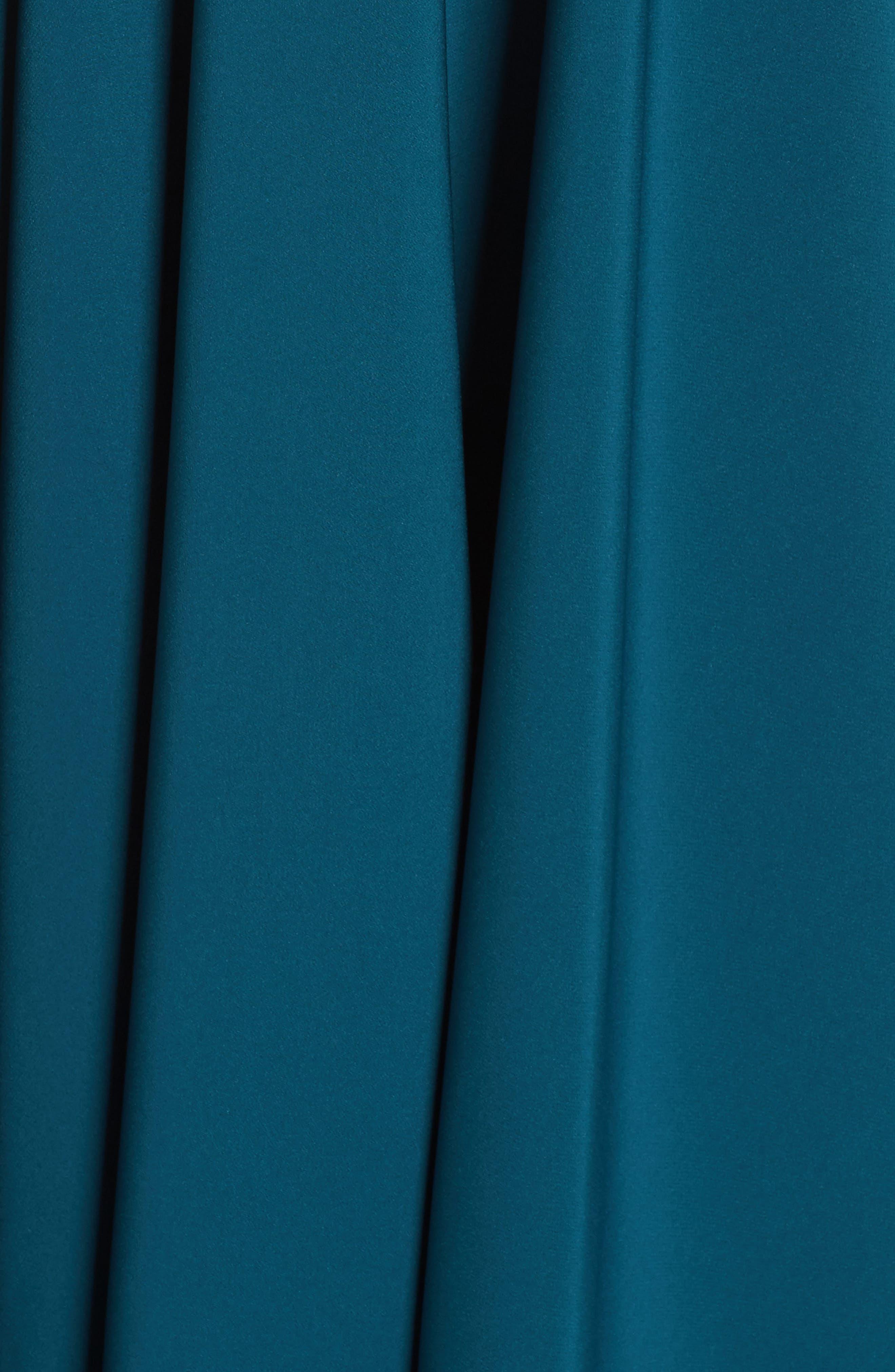 Beaded Waist Gown,                             Alternate thumbnail 5, color,                             TEAL