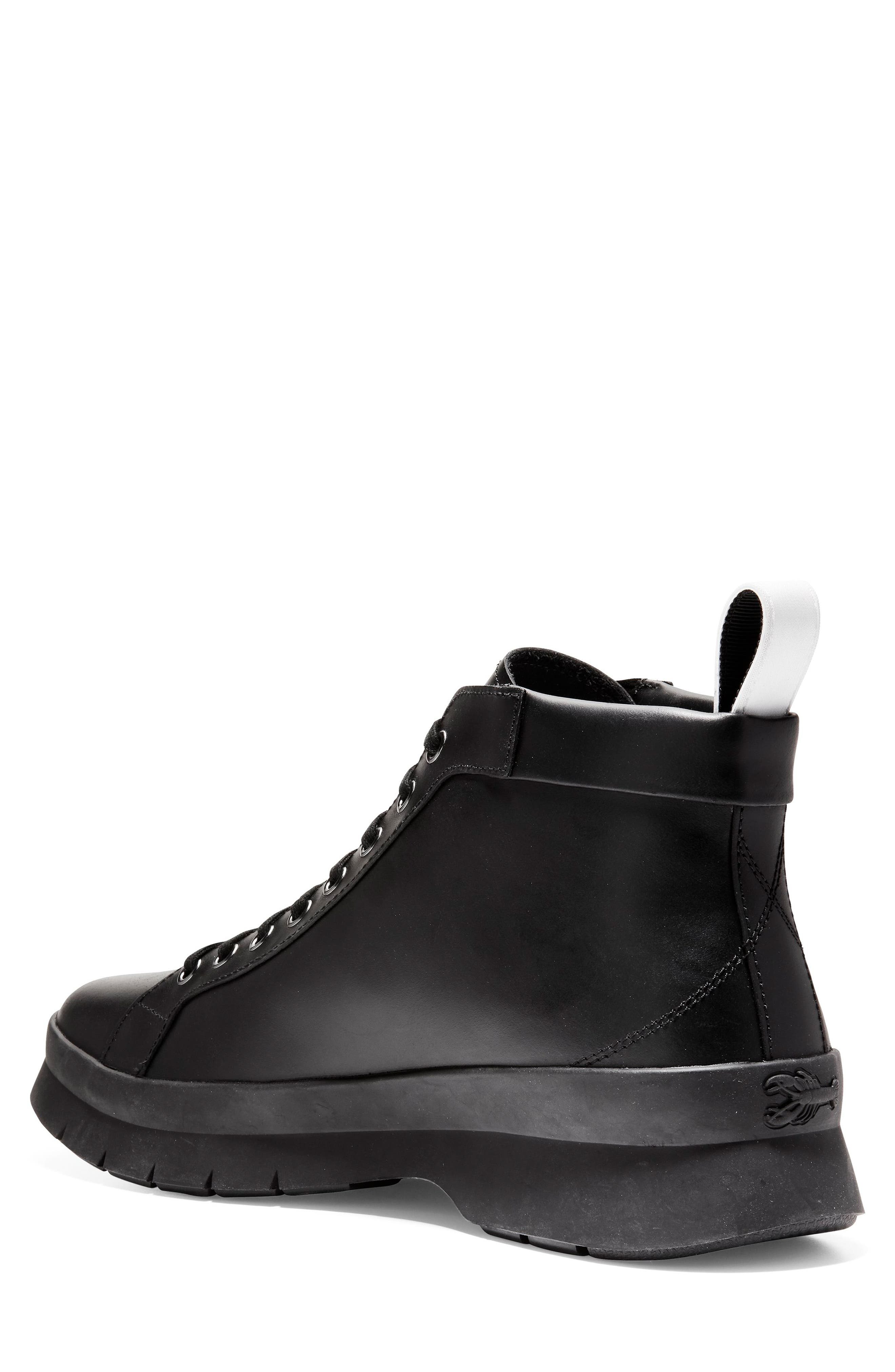 Pinch Utility Waterproof Boot,                             Alternate thumbnail 2, color,                             BLACK LEATHER
