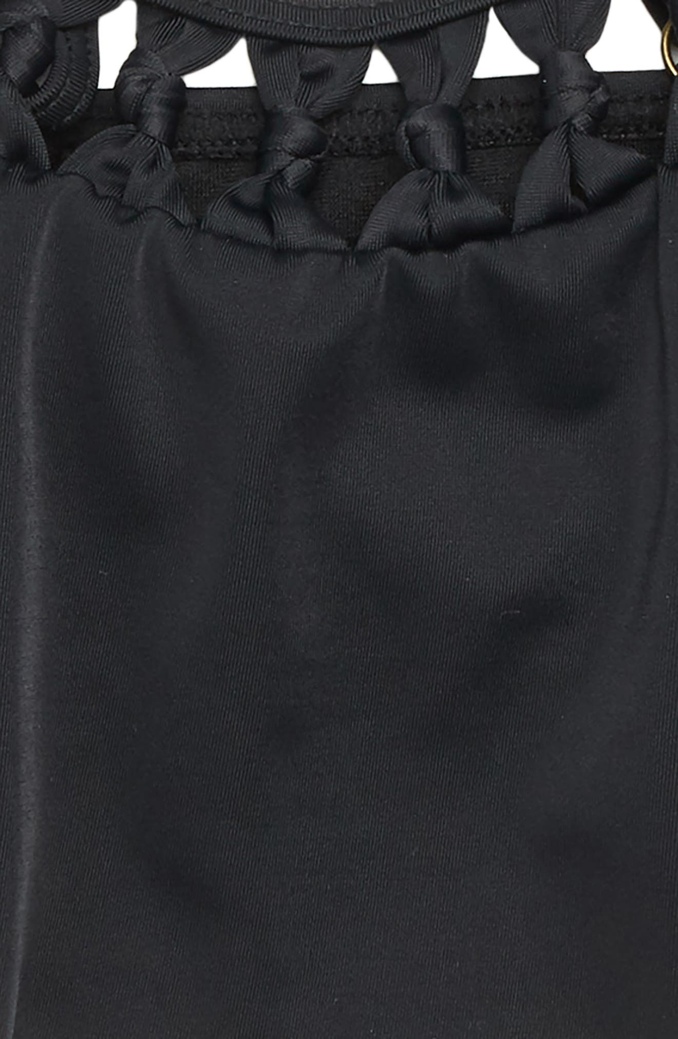Macramé Madness Two-Piece Swimsuit,                             Alternate thumbnail 2, color,                             BLACK