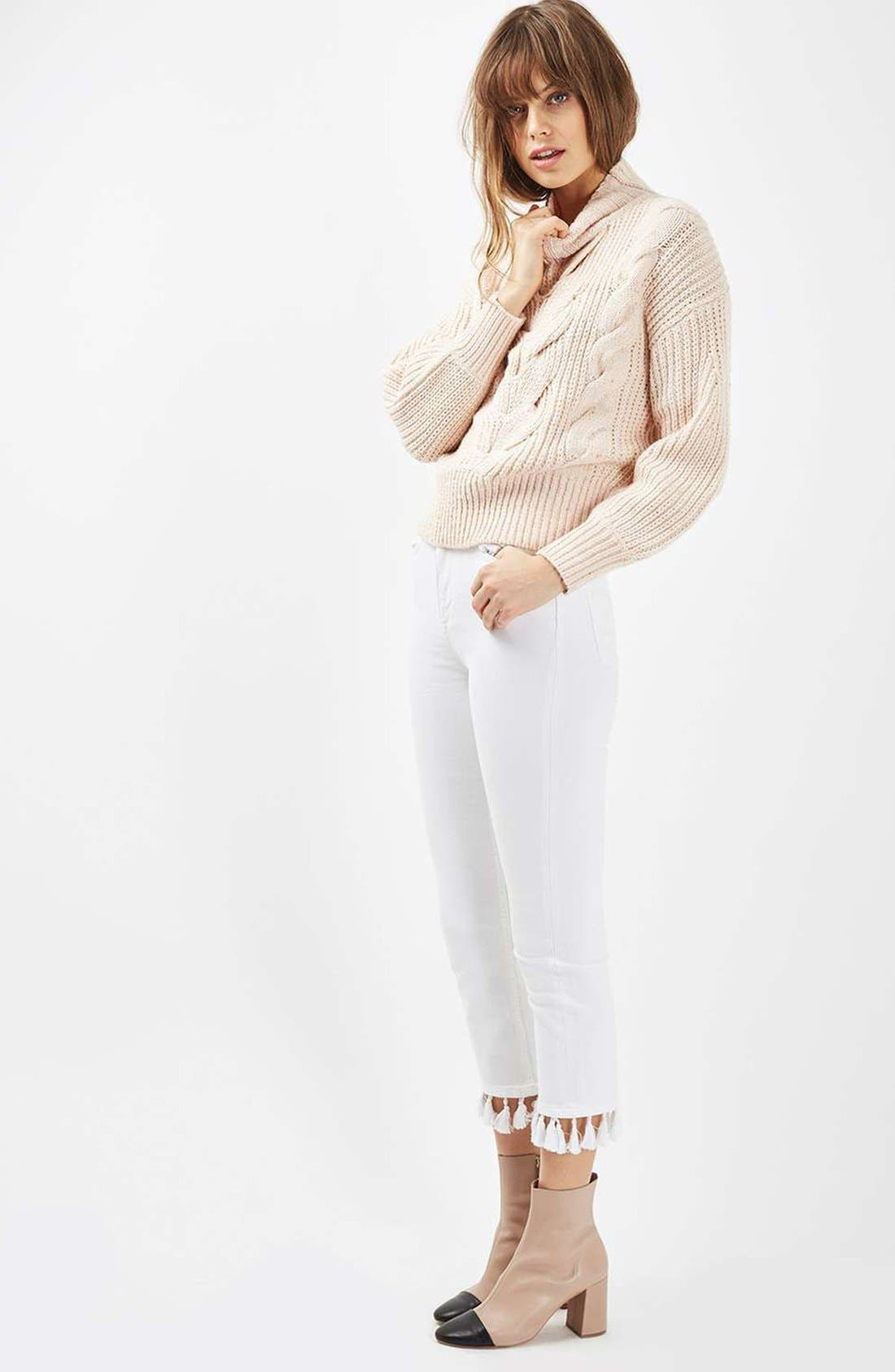 Cable Knit Sweater,                             Alternate thumbnail 5, color,                             250