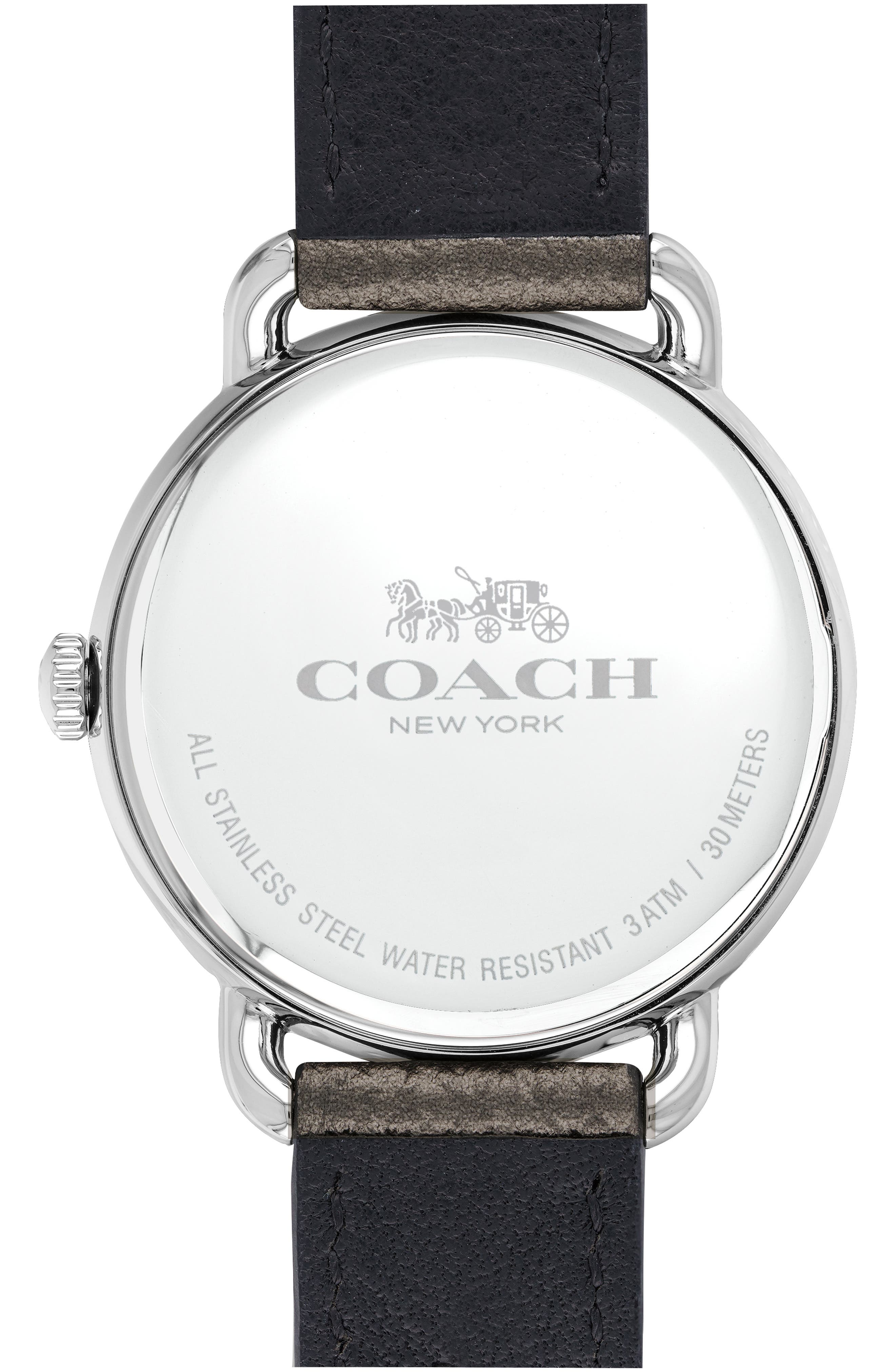 Delancey Charm Detail Leather Strap Watch, 36mm,                             Alternate thumbnail 2, color,                             040