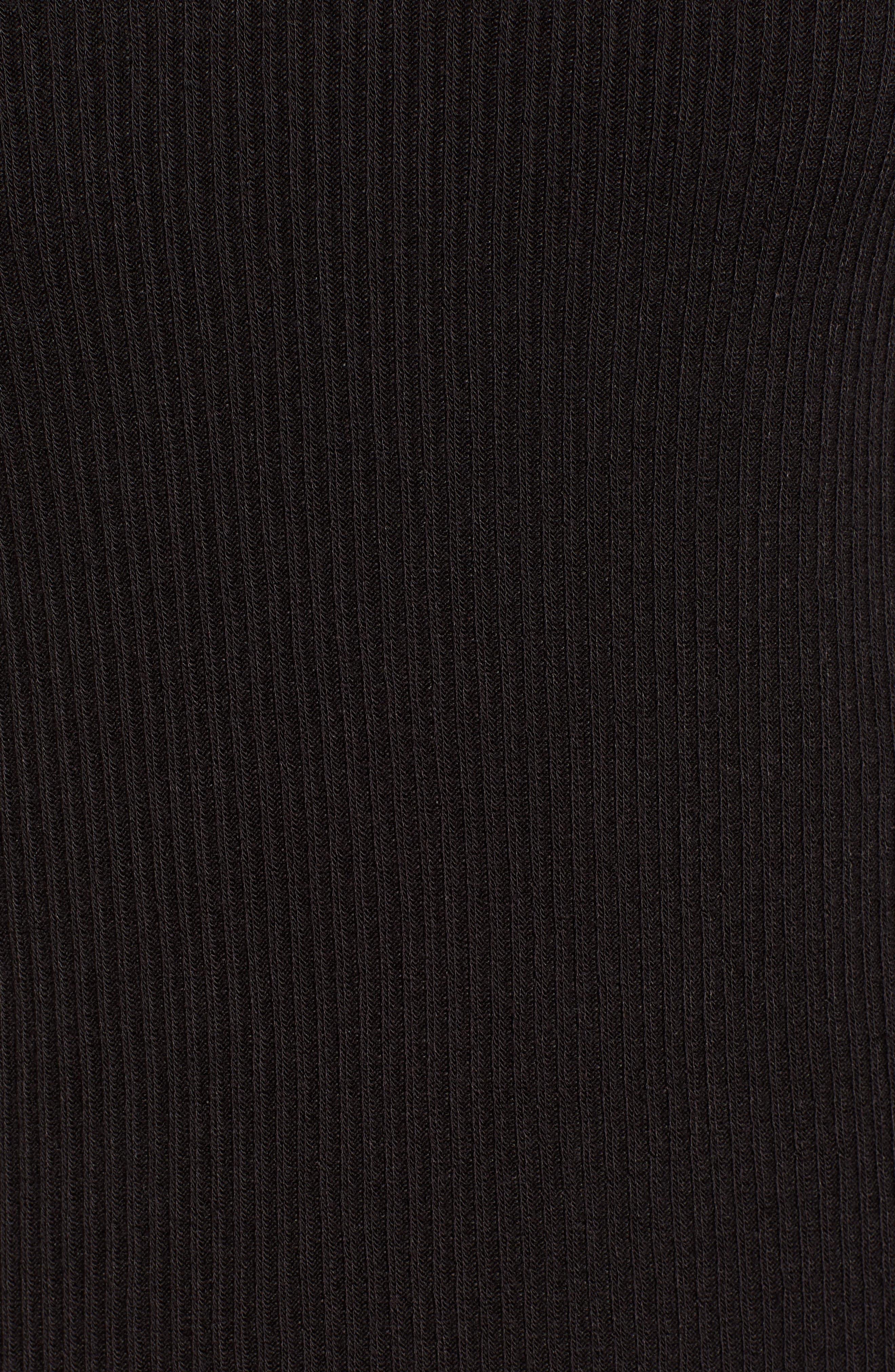 Tilbury Ribbed Tee,                             Alternate thumbnail 5, color,                             BLACK