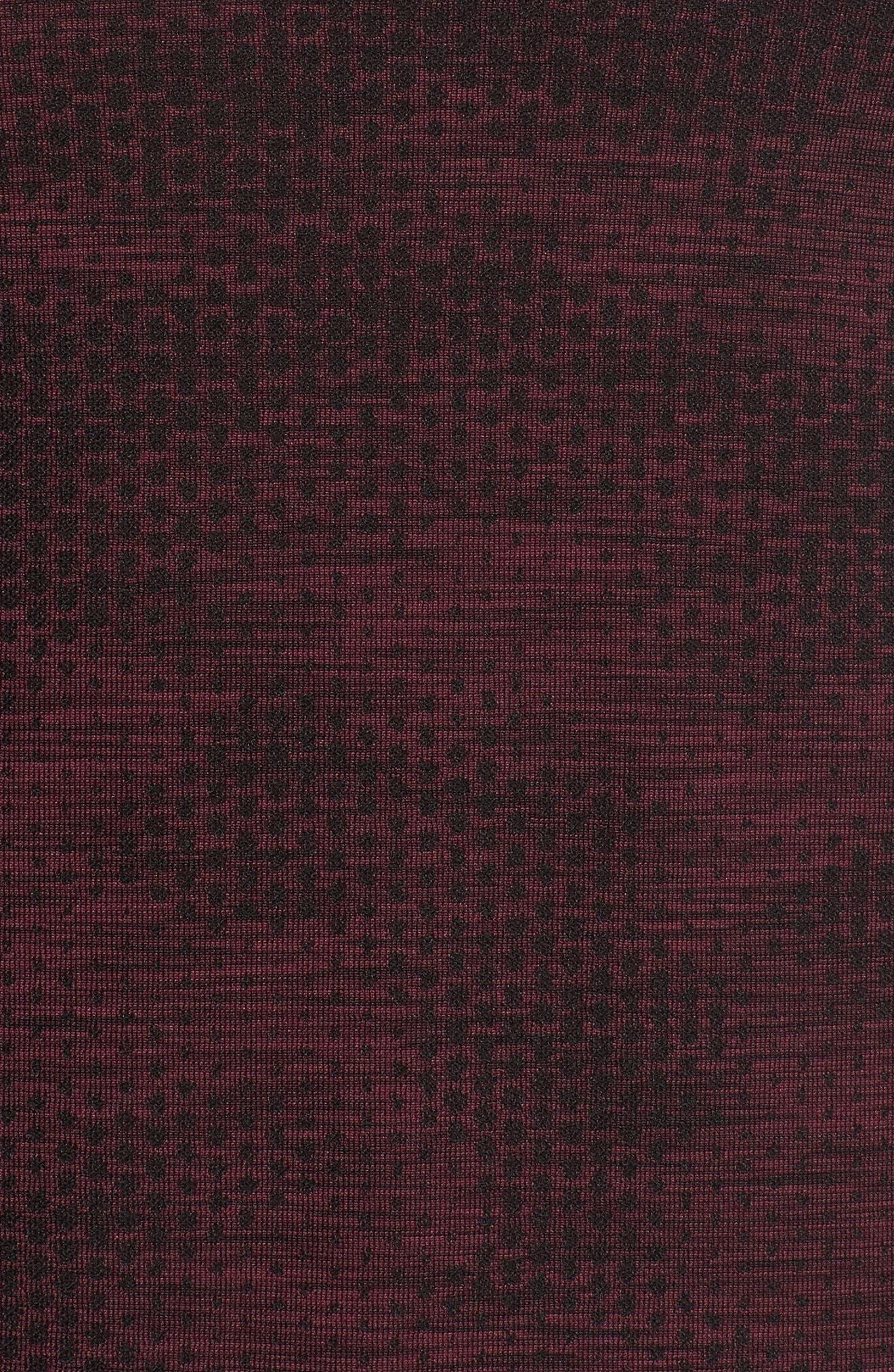 Siphon Camo Print Performance T-Shirt,                             Alternate thumbnail 5, color,                             DARK MAROON