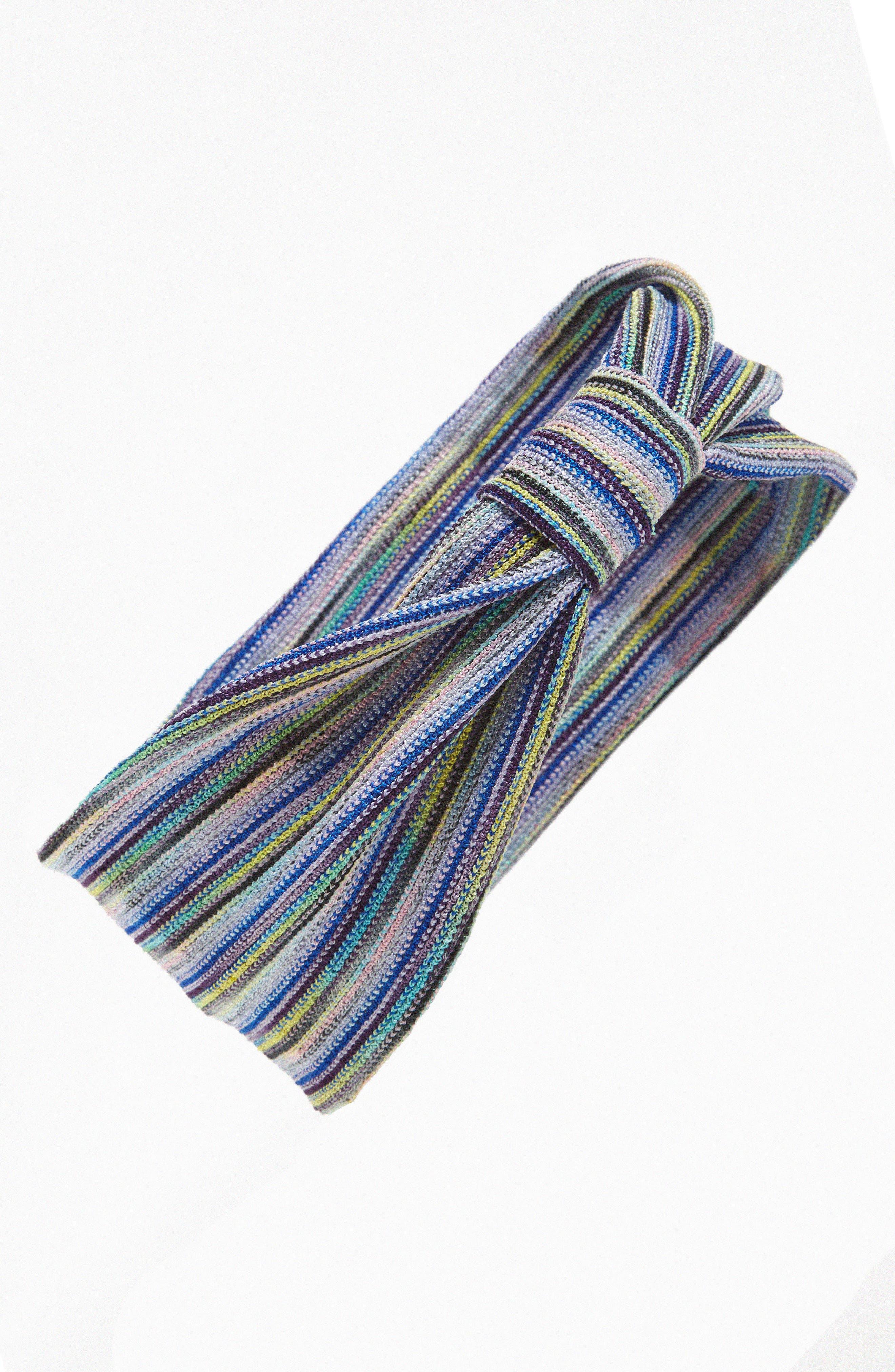 Stripe Knot Head Wrap,                             Main thumbnail 4, color,