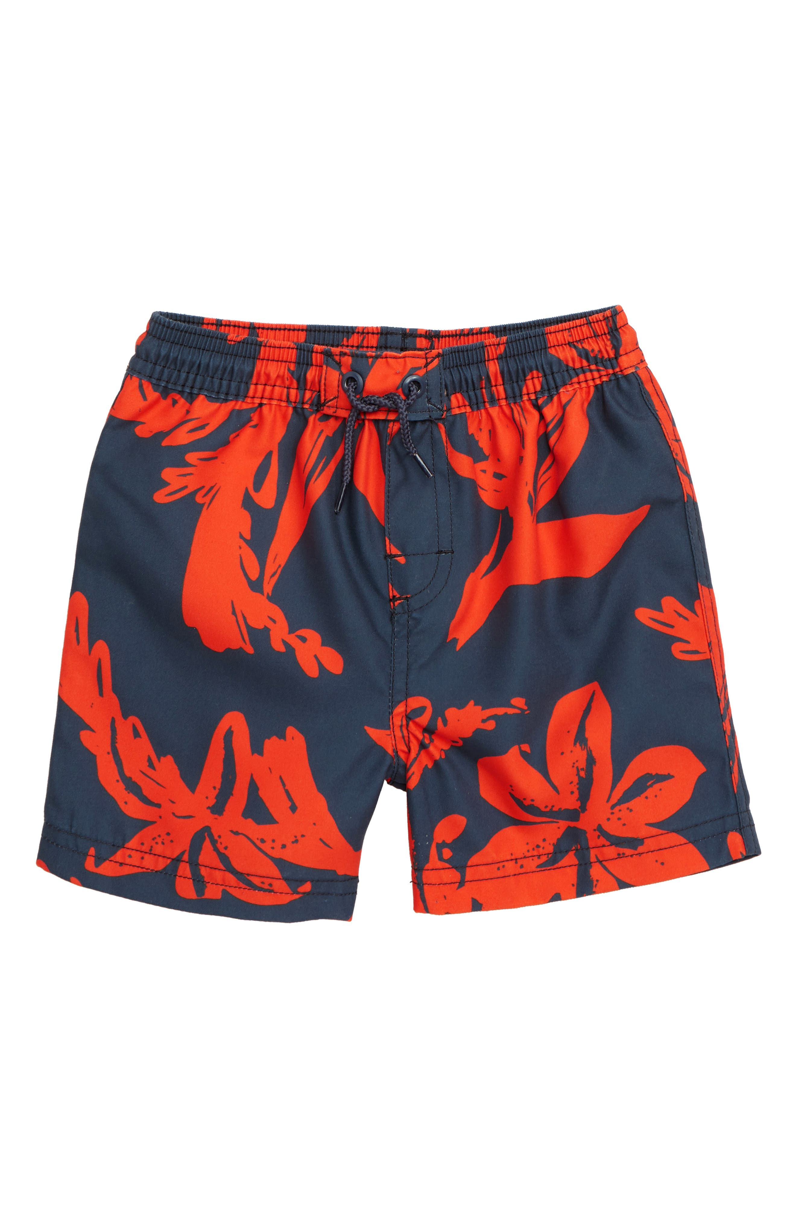 Print Swim Trunks, Main, color, SEA FLORA