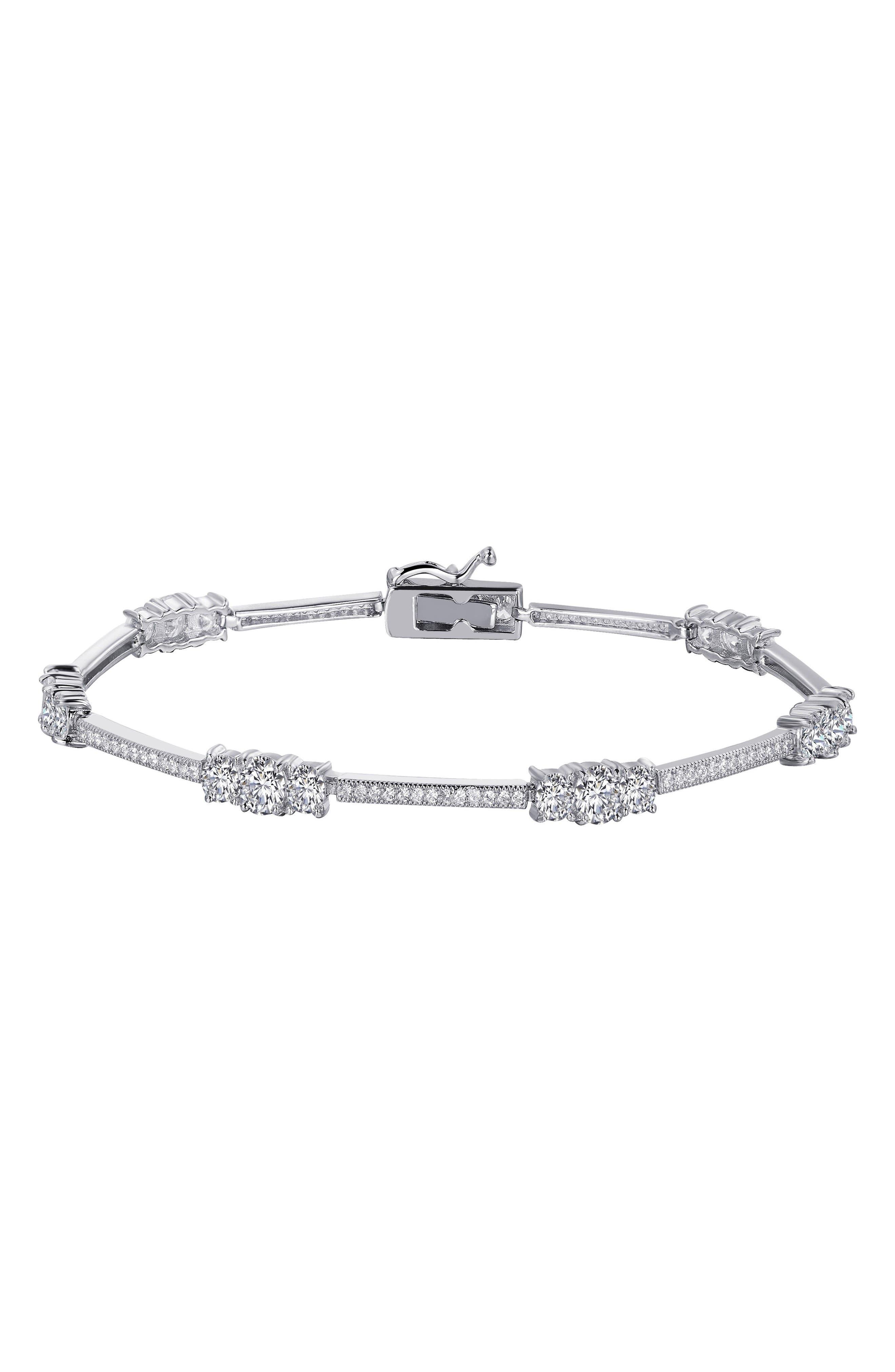 Simulated Diamond Tennis Bracelet,                         Main,                         color, 100