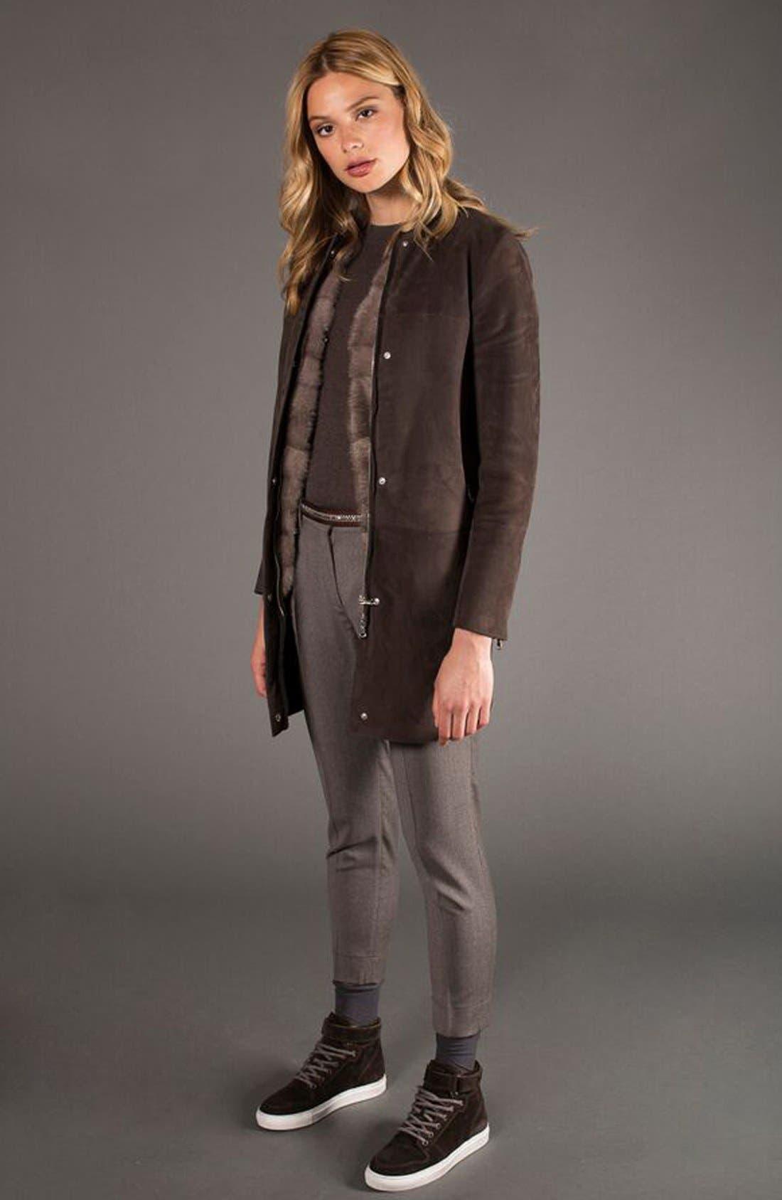 Genuine Mink Fur Vest with Cable Knit Back,                             Alternate thumbnail 2, color,                             078