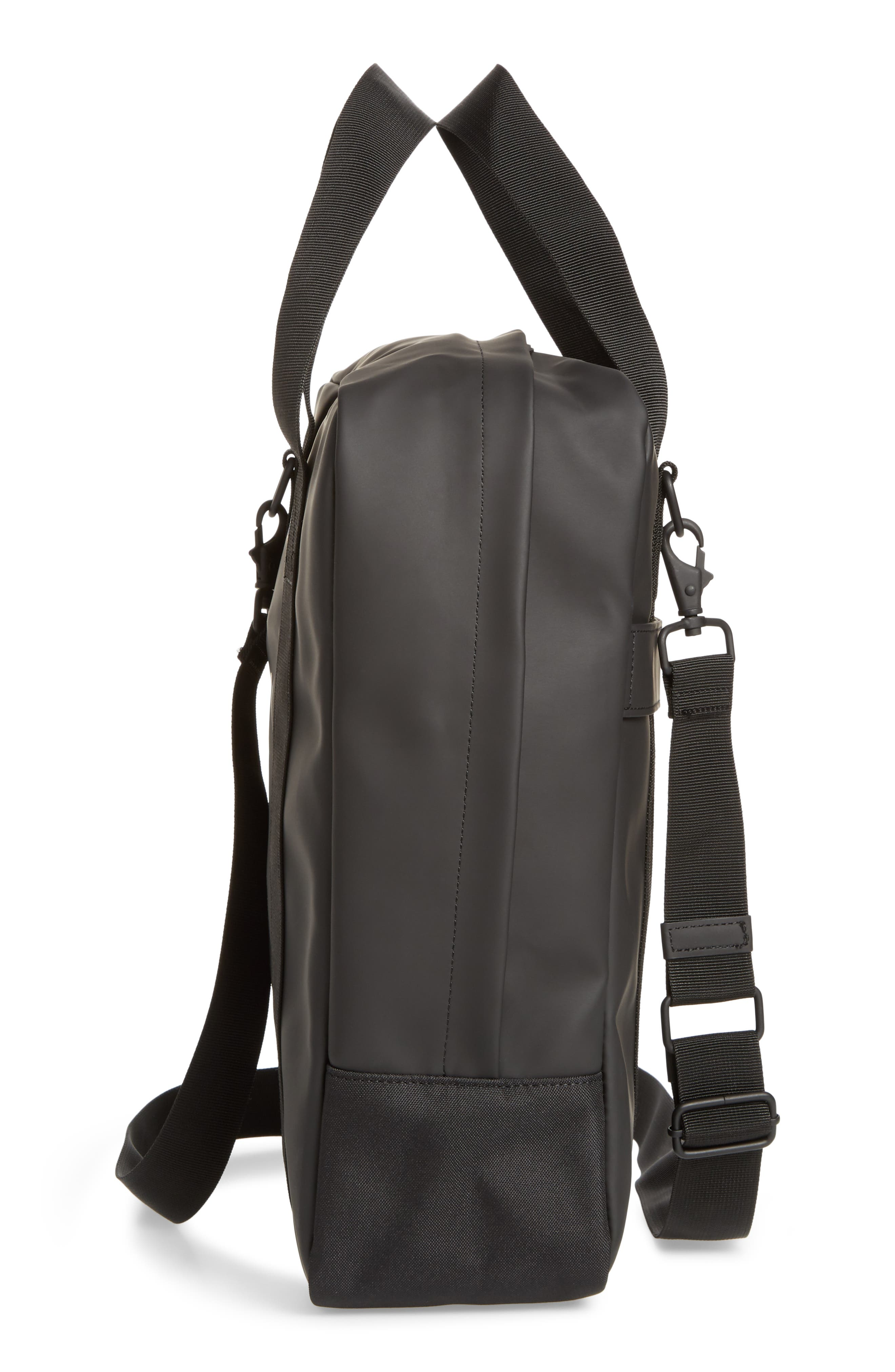 Waterproof Utility Tote Bag,                             Alternate thumbnail 5, color,                             BLACK