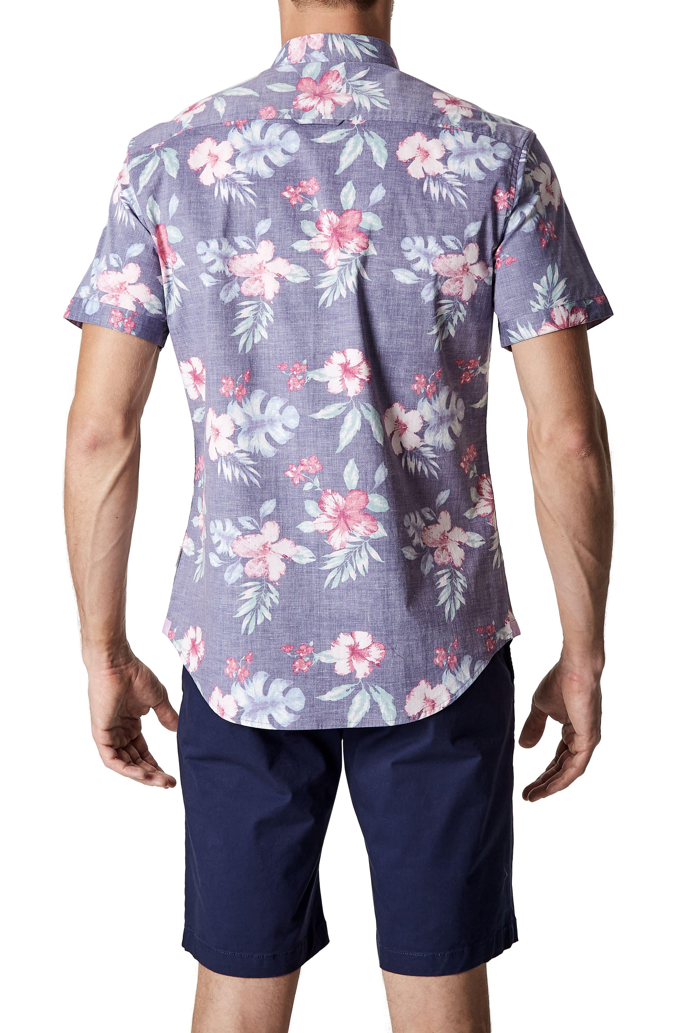More Colors Floral Woven Sport Shirt,                             Alternate thumbnail 2, color,                             504