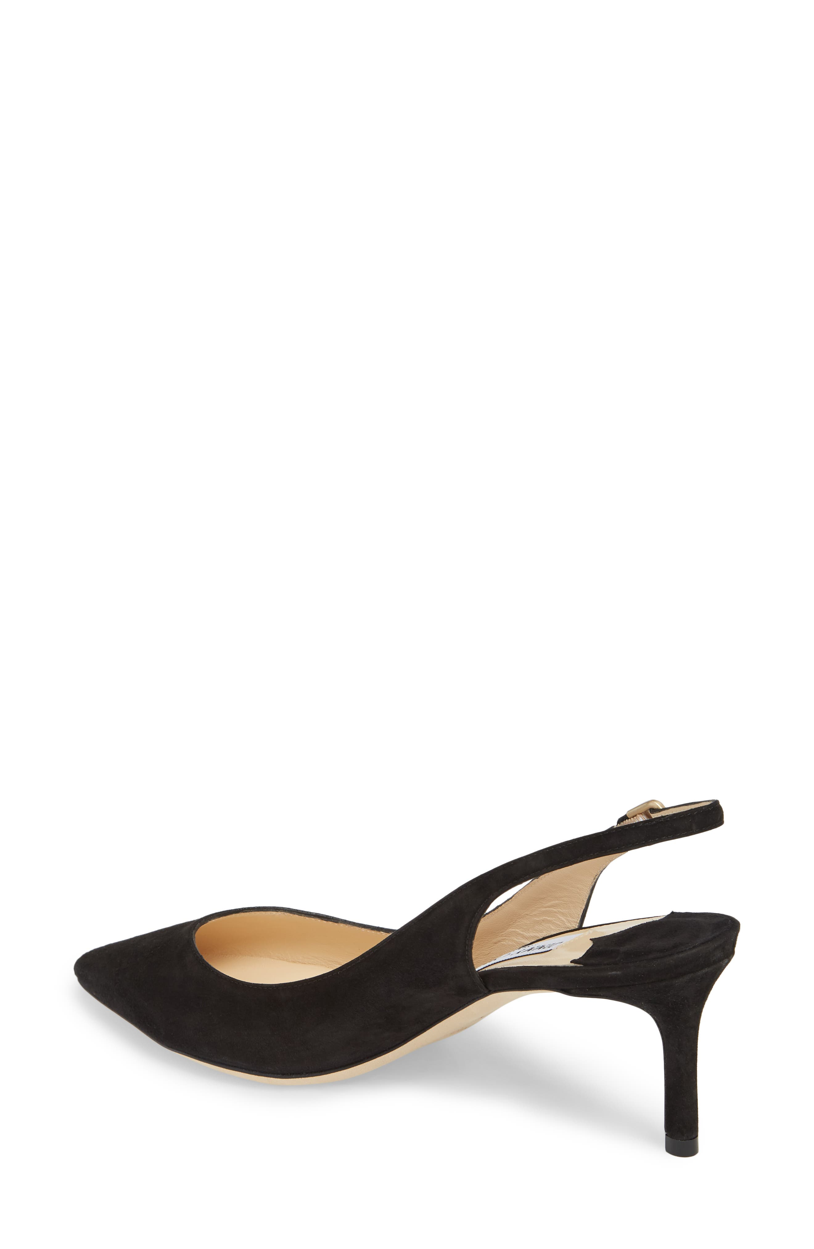 Erin Pointy Toe Slingback Pump,                             Alternate thumbnail 2, color,                             BLACK