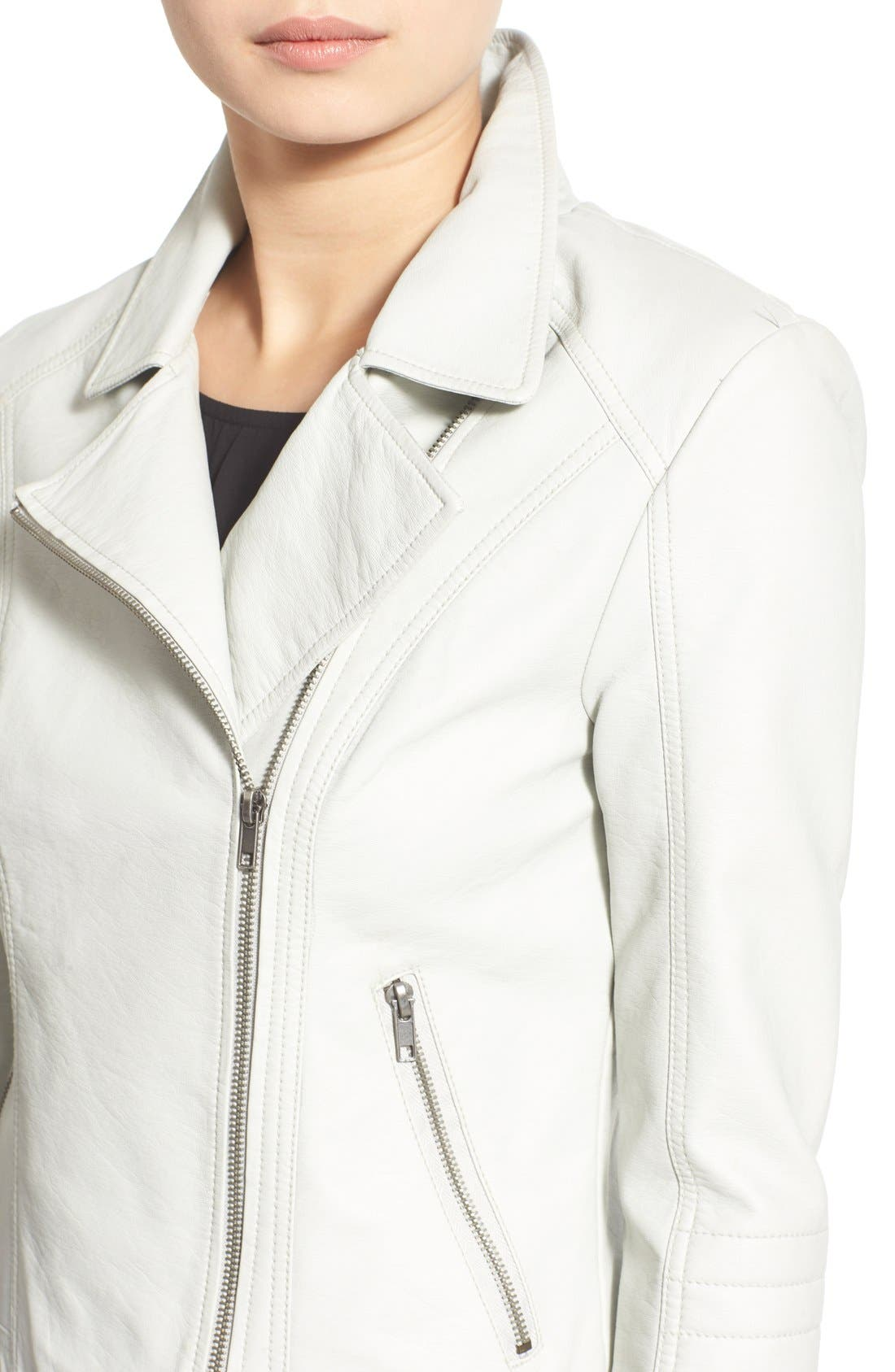 'Sid' Faux Leather Moto Jacket,                             Alternate thumbnail 10, color,