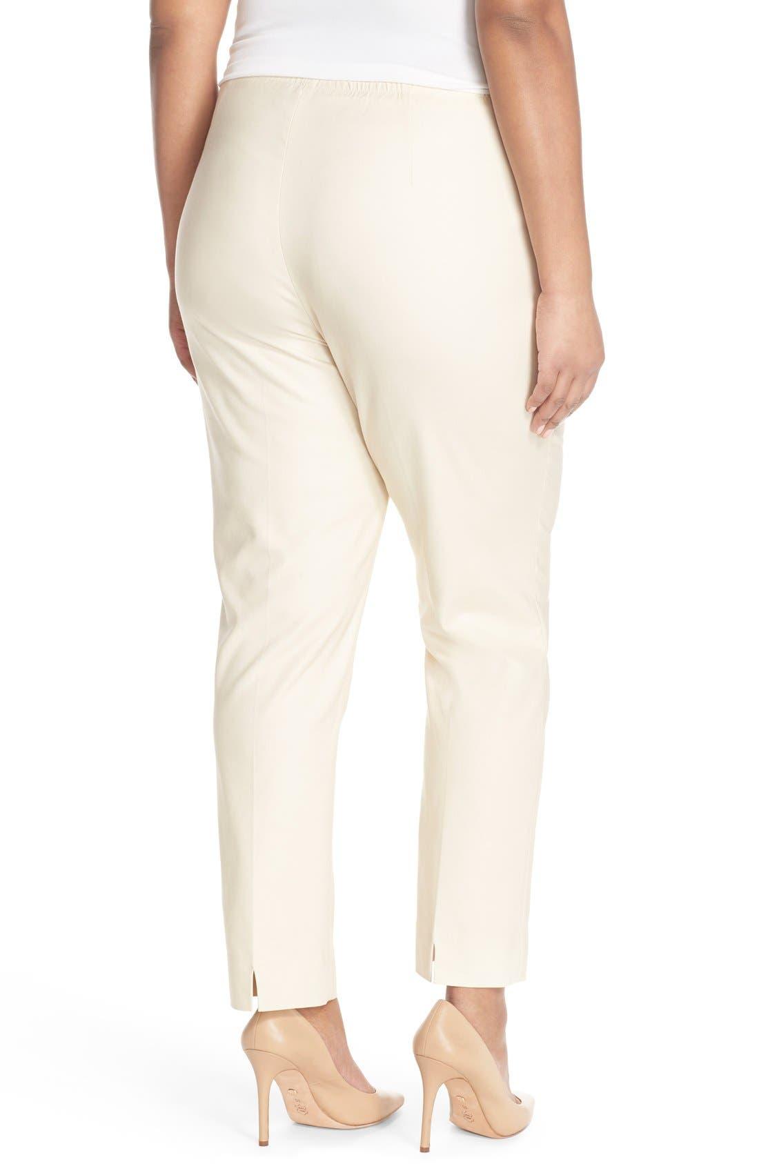 'Perfect' High Rise Side Zip Pants,                             Alternate thumbnail 2, color,                             SANDSHELL