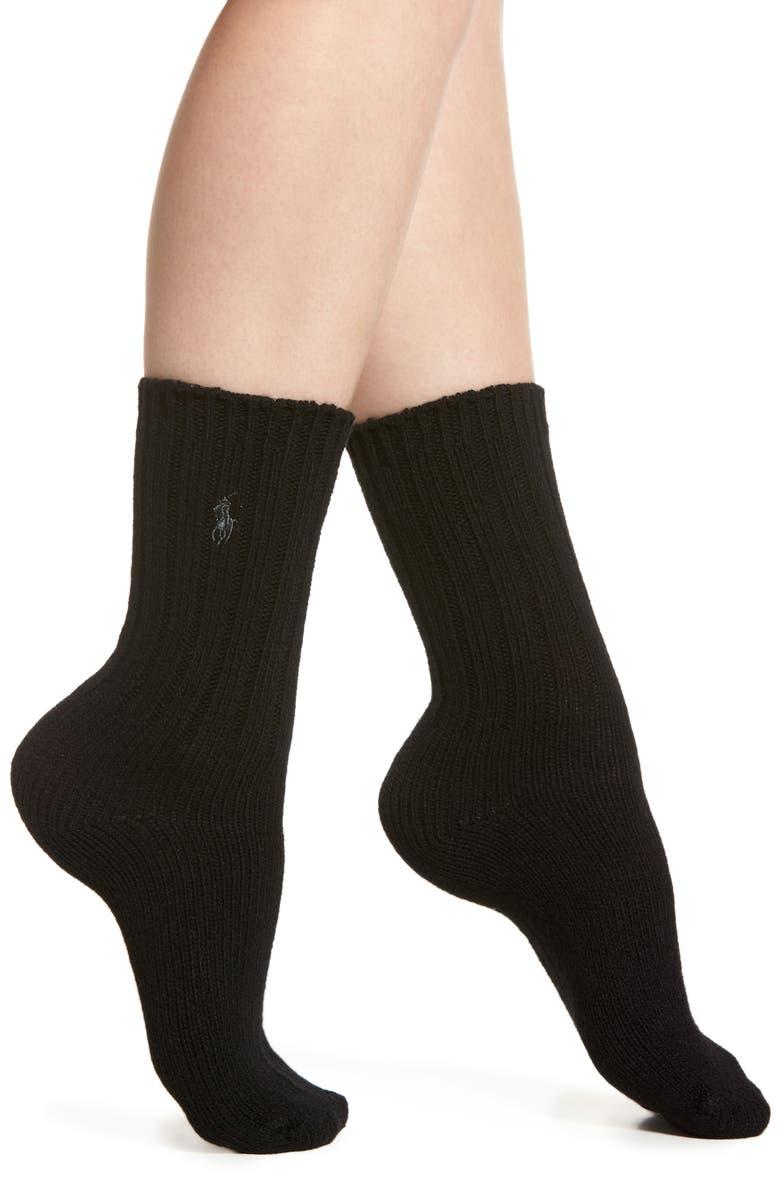 Ralph Lauren WOOL RIB BOOT SOCKS