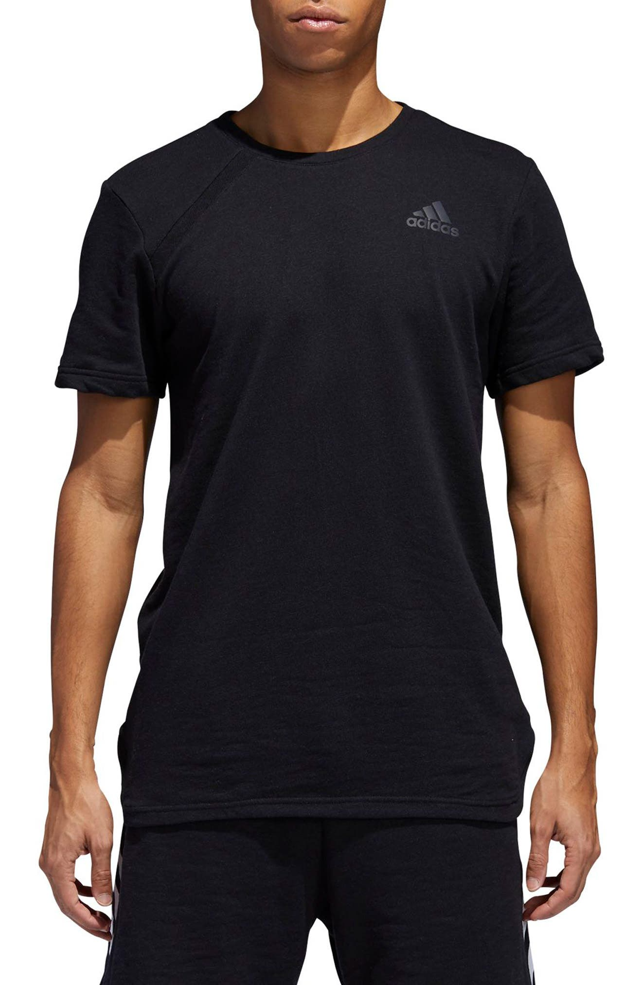 Regular Fit Crewneck T-Shirt,                         Main,                         color, BLACK