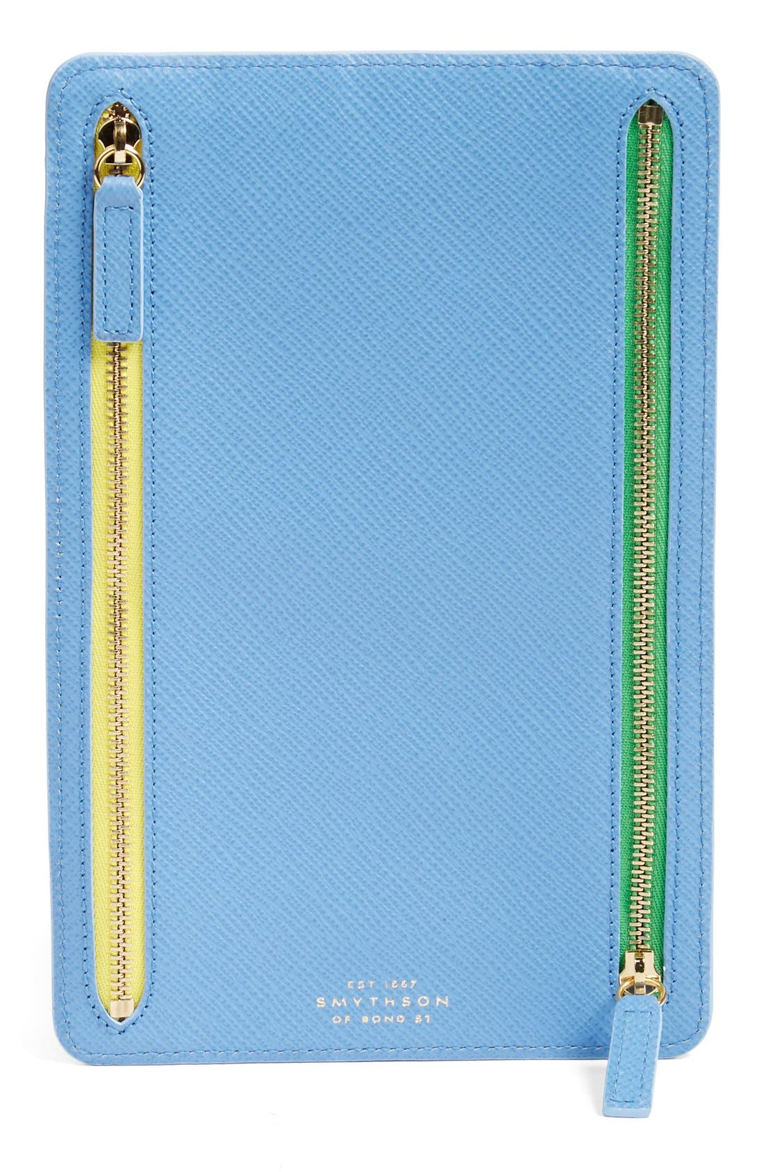 'Panama' Zip Currency Case,                             Main thumbnail 1, color,                             NILE BLUE