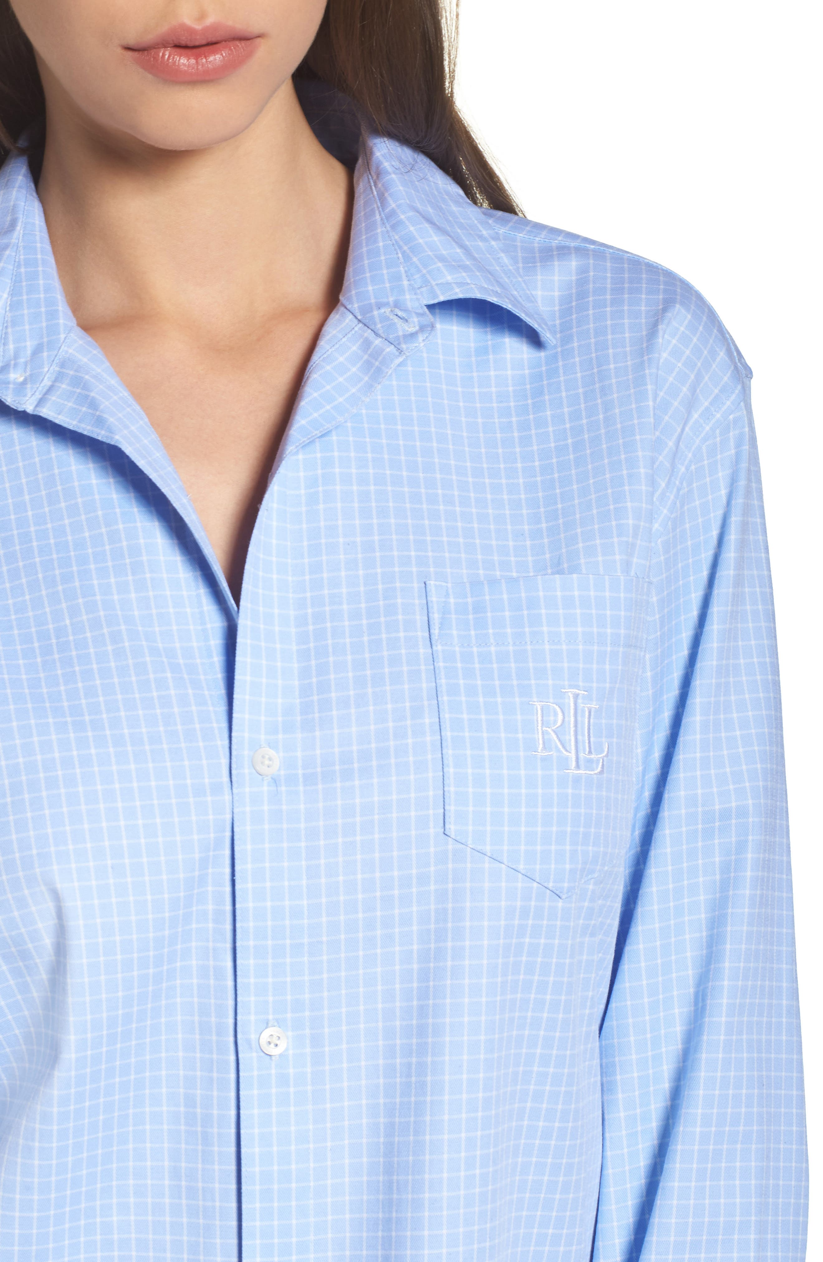 Stretch Cotton Pajamas,                             Alternate thumbnail 4, color,