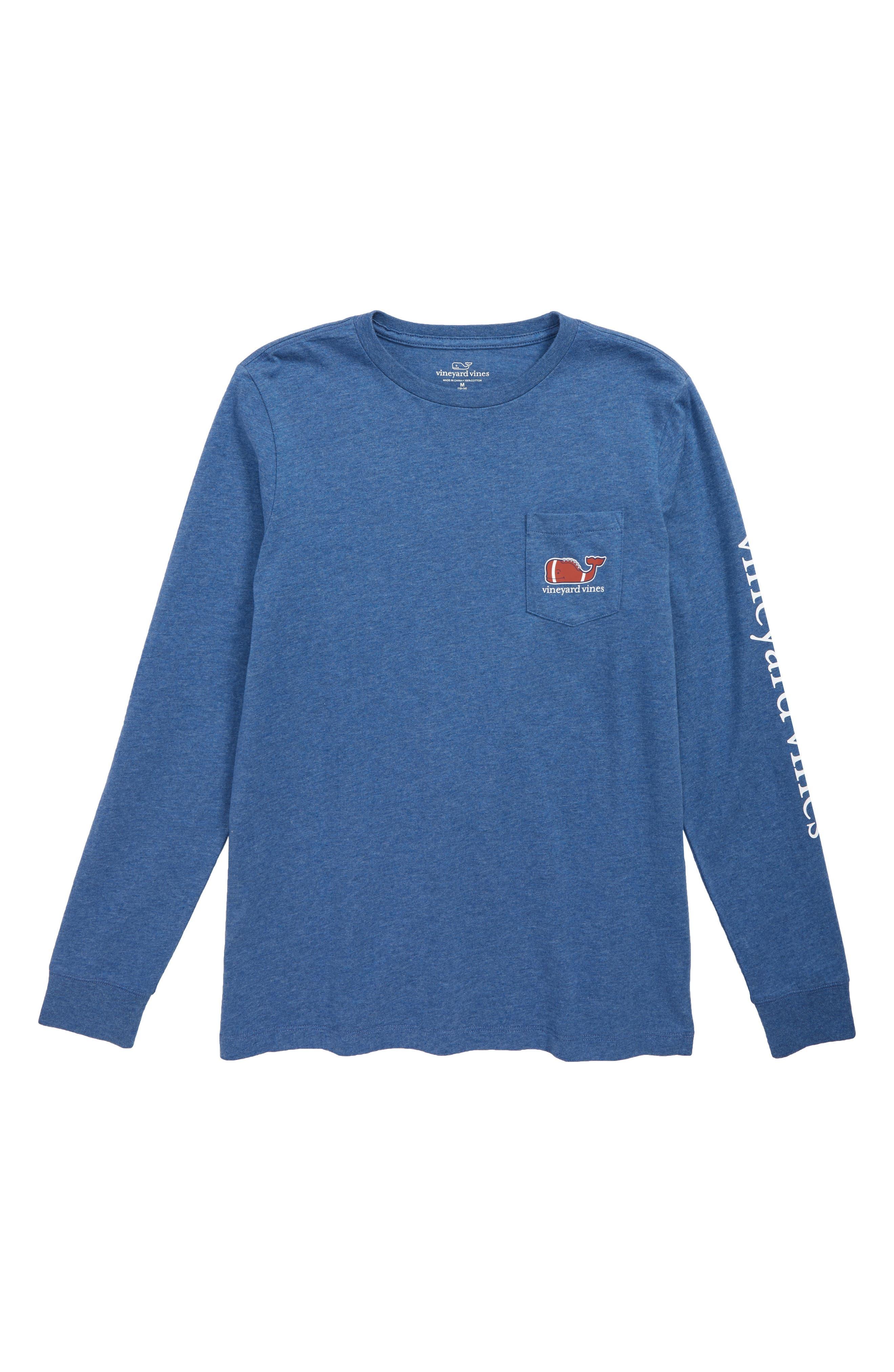 Heathered Football Whale Pocket T-Shirt,                             Main thumbnail 1, color,                             461