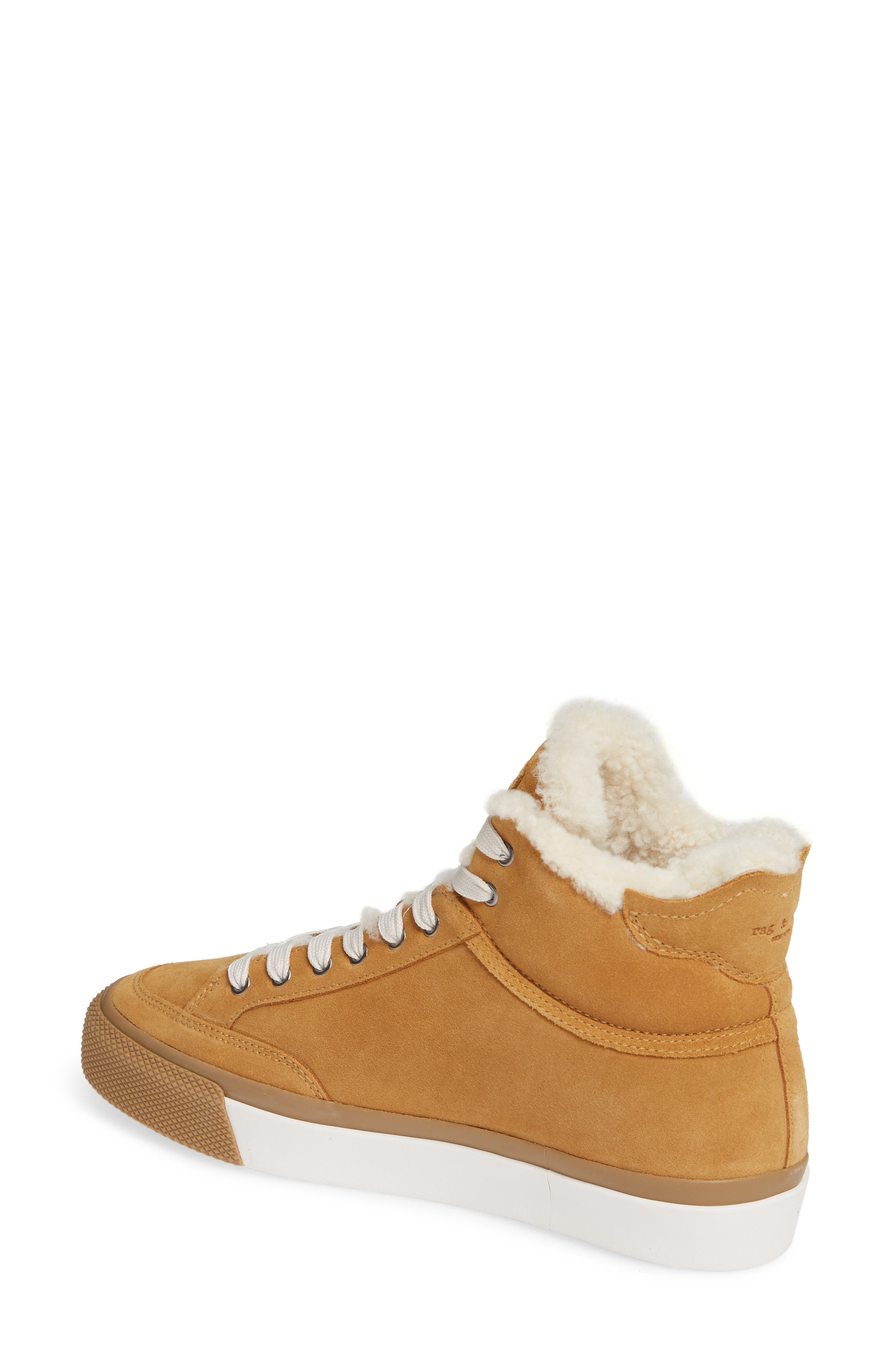 Army High Top Sneaker,                             Alternate thumbnail 2, color,                             OAK SUEDE