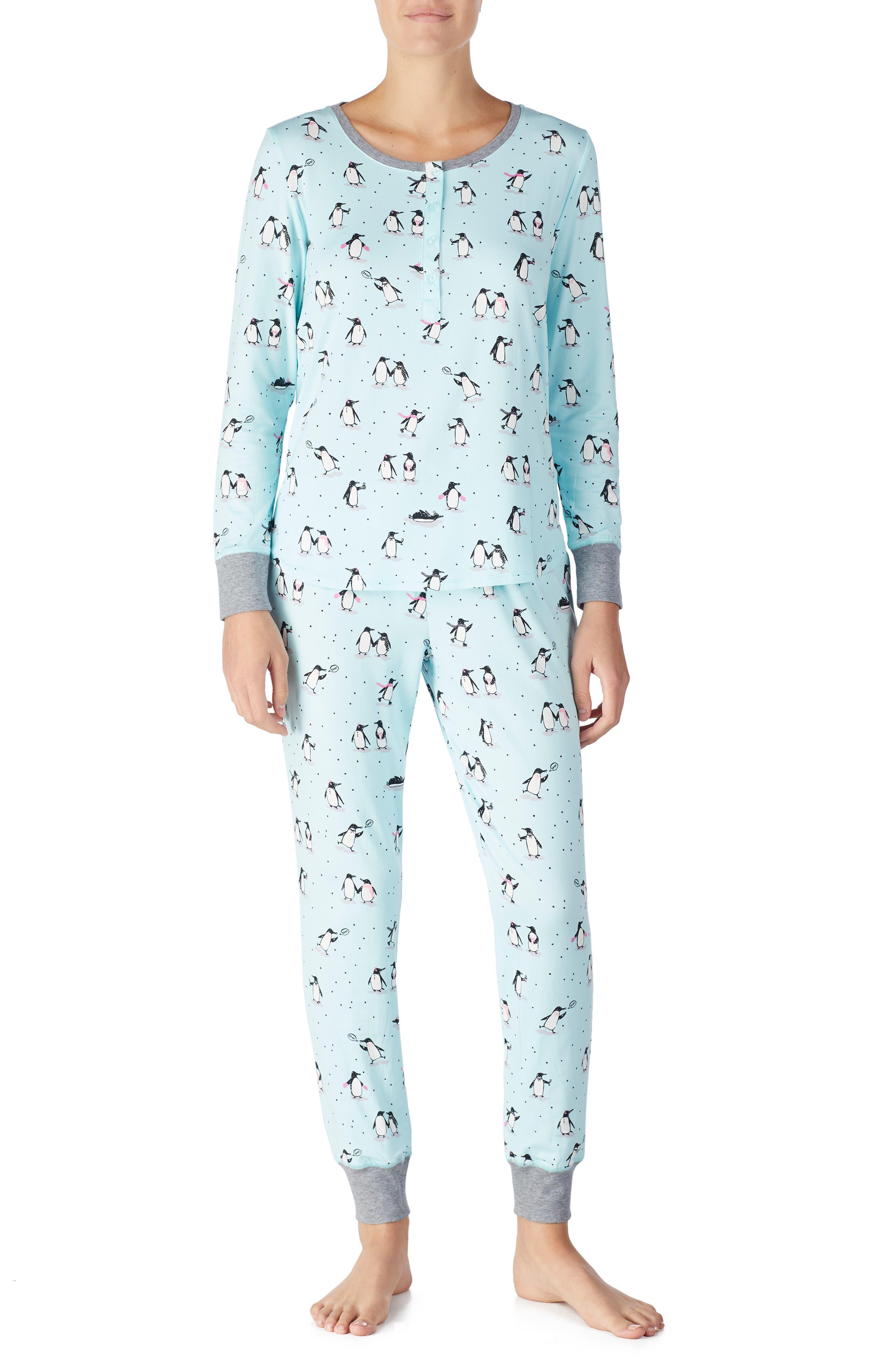 jogger long pajamas,                             Main thumbnail 1, color,                             PENGUINS