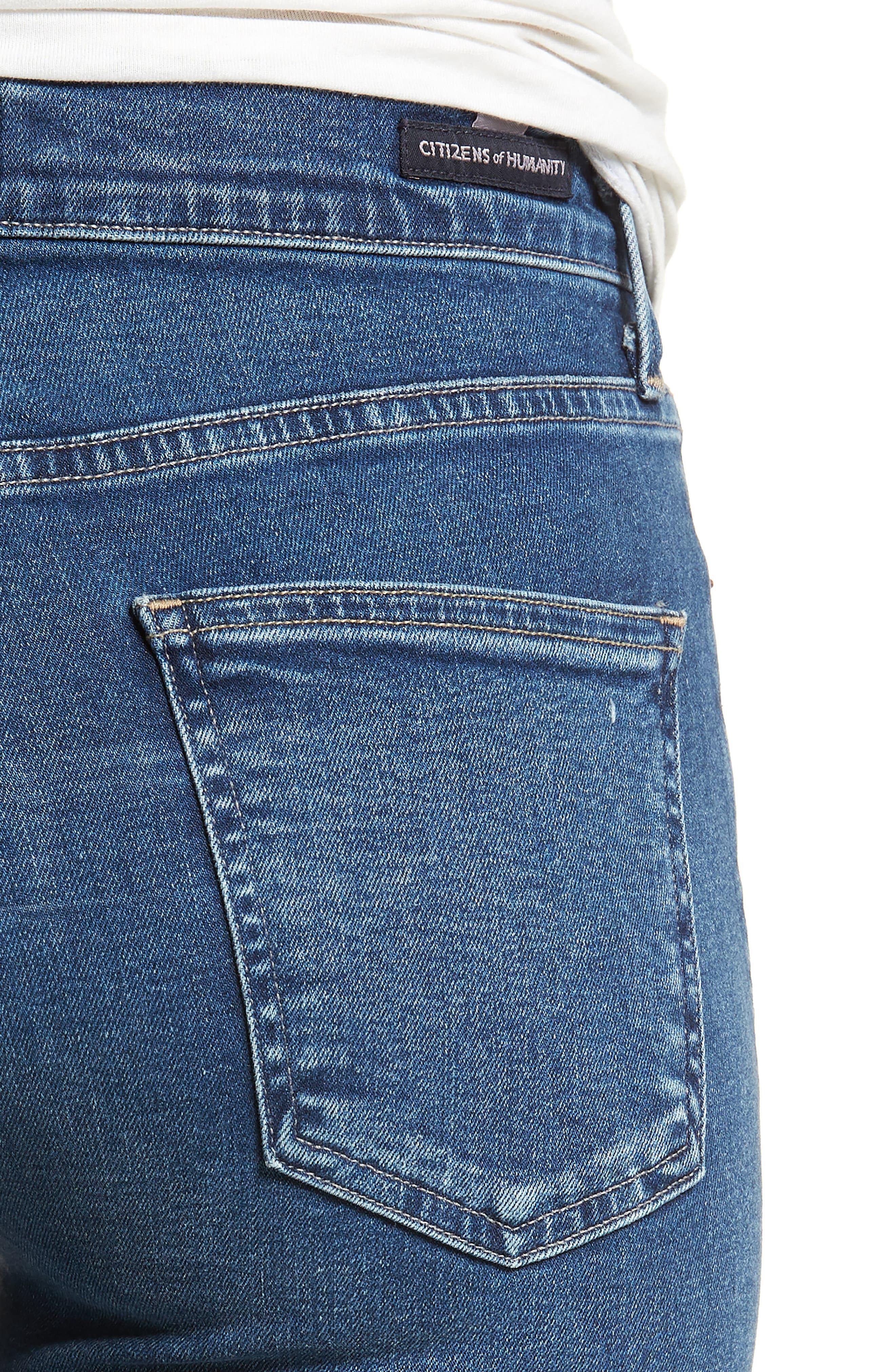 Cara Ankle Cigarette Jeans,                             Alternate thumbnail 4, color,