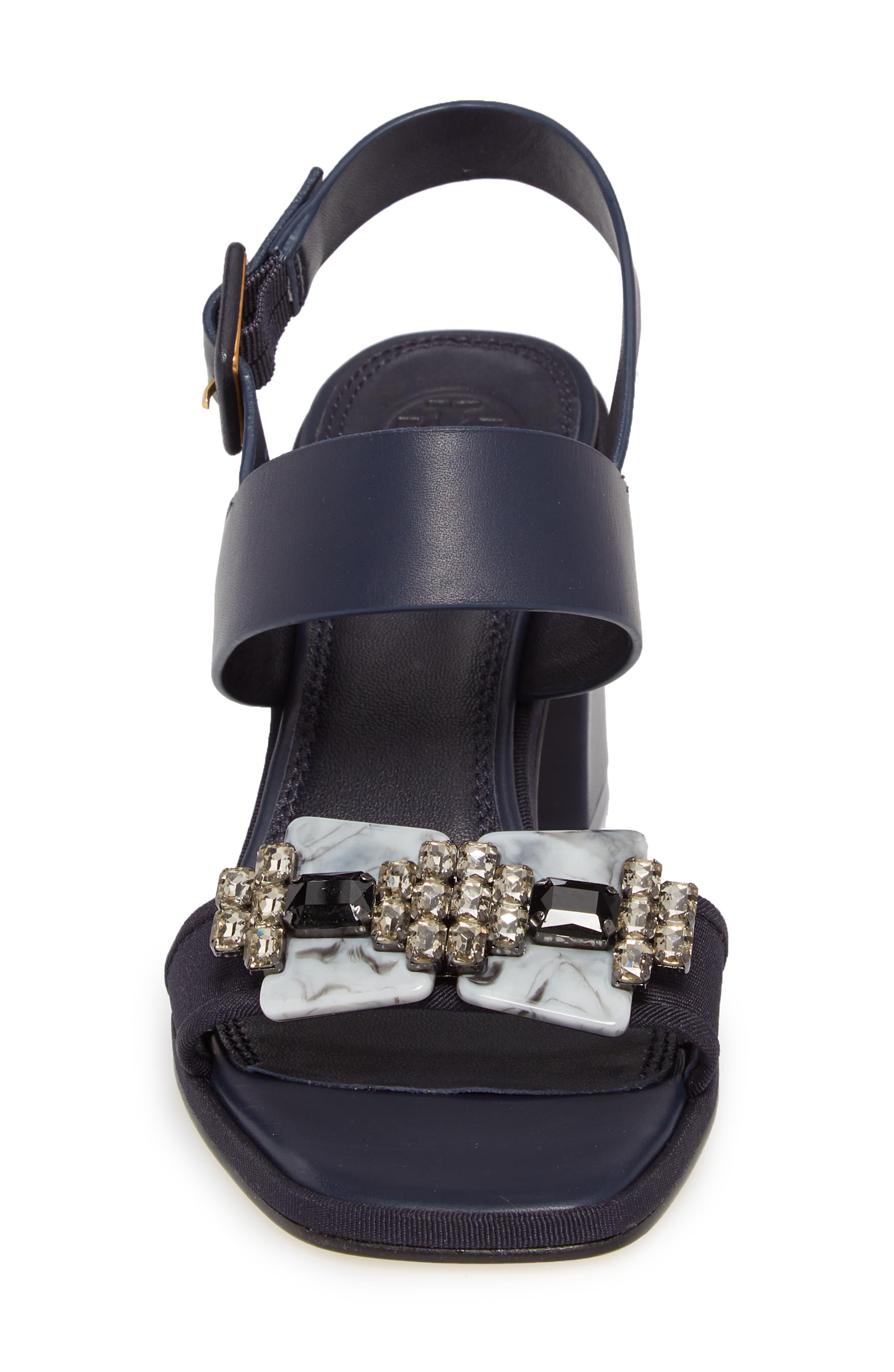 Delaney Embellished Double Strap Sandal,                             Alternate thumbnail 8, color,