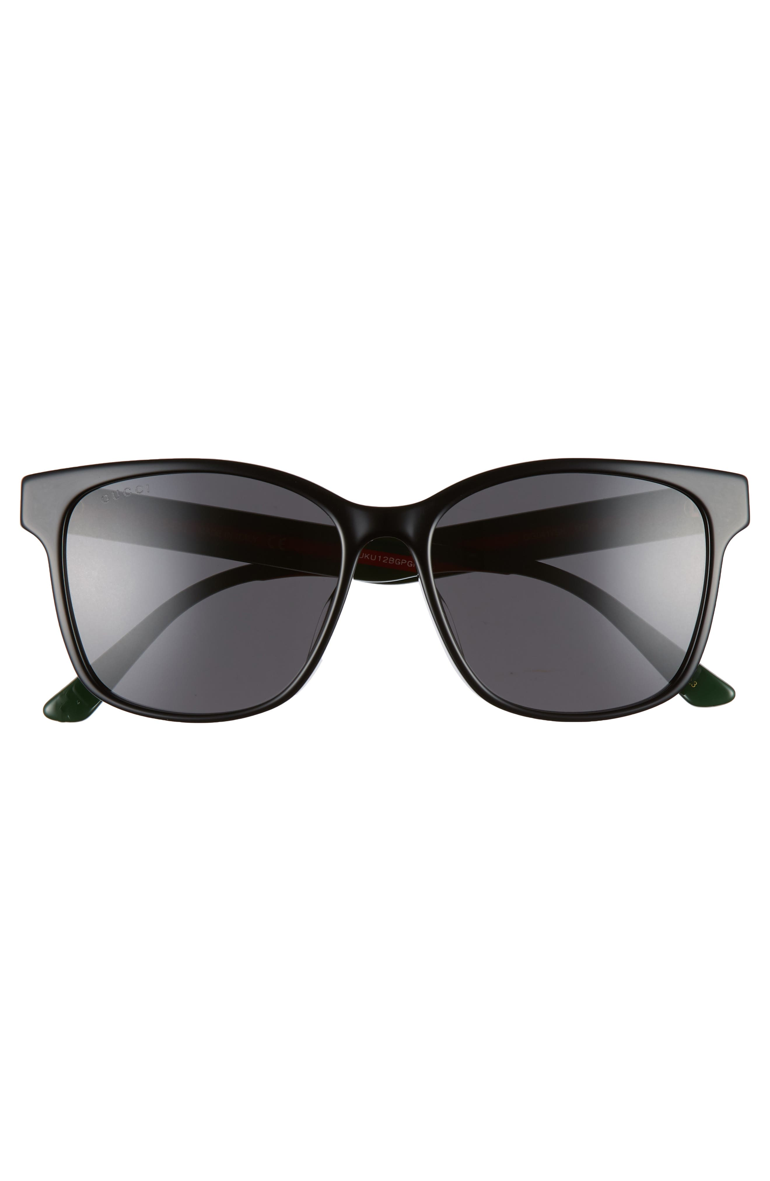 56mm Sunglasses,                             Alternate thumbnail 2, color,                             BLACK