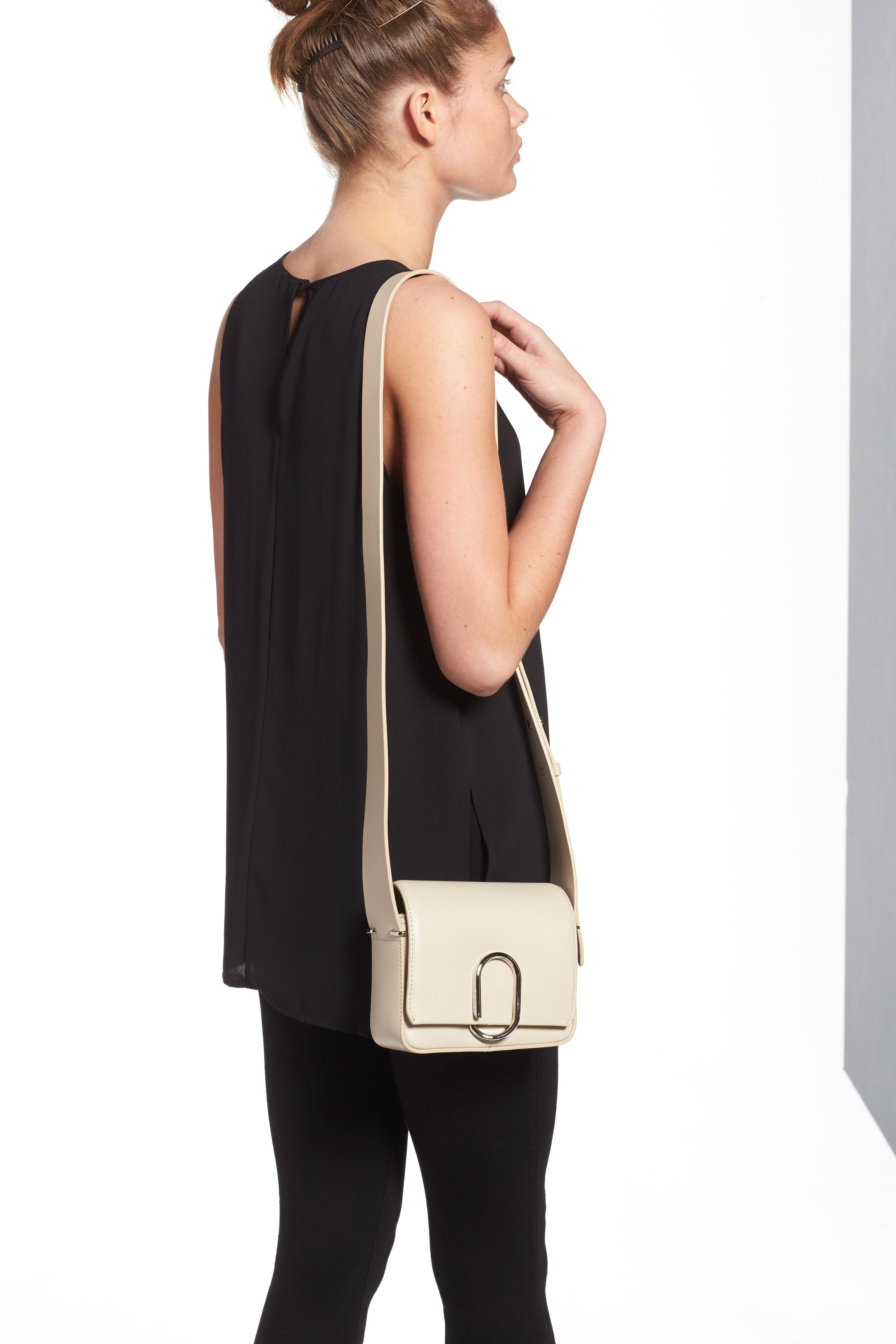 'Mini Alix' Leather Shoulder Bag,                             Alternate thumbnail 6, color,                             110