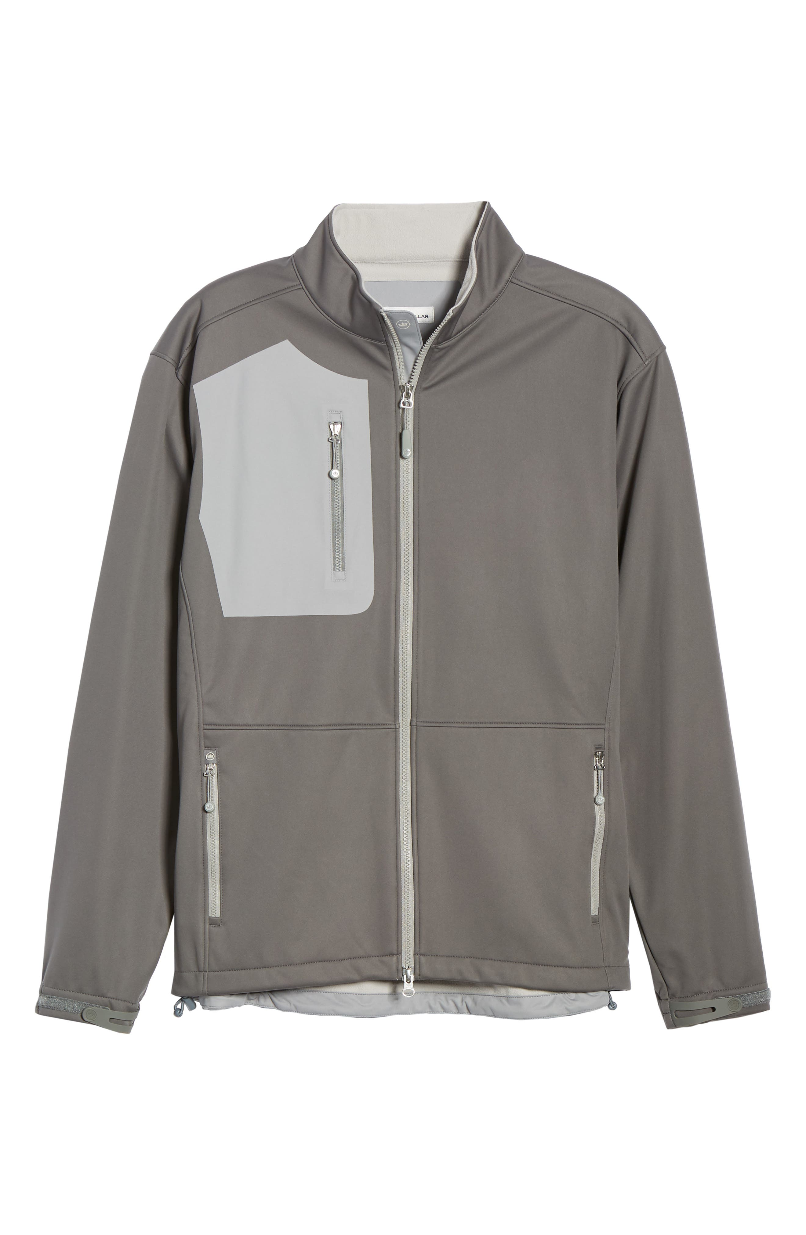 PETER MILLAR,                             Gale Force Stretch Soft Shell Jacket,                             Alternate thumbnail 6, color,                             SMOKE