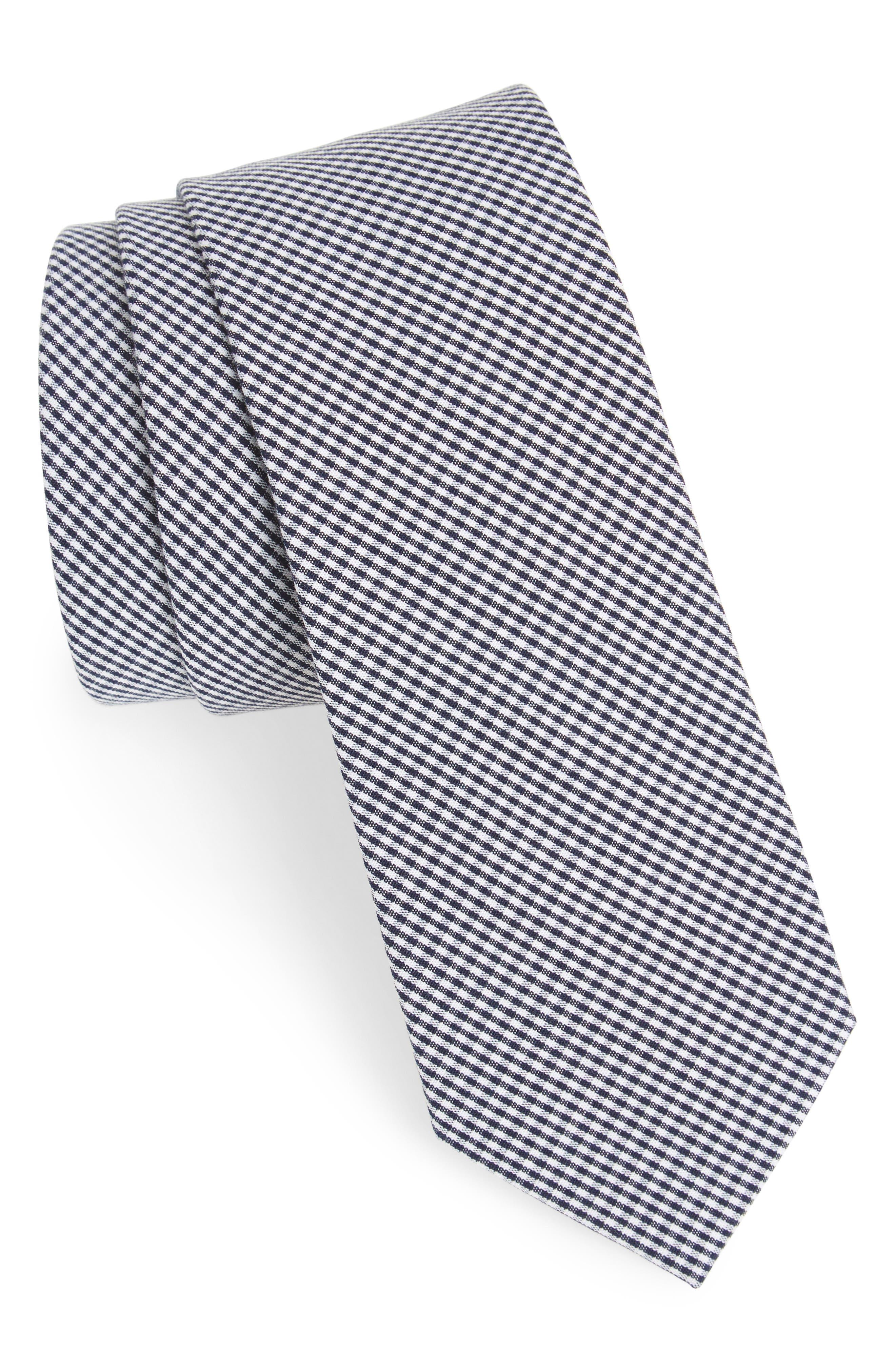 Check Cotton Tie,                             Main thumbnail 6, color,