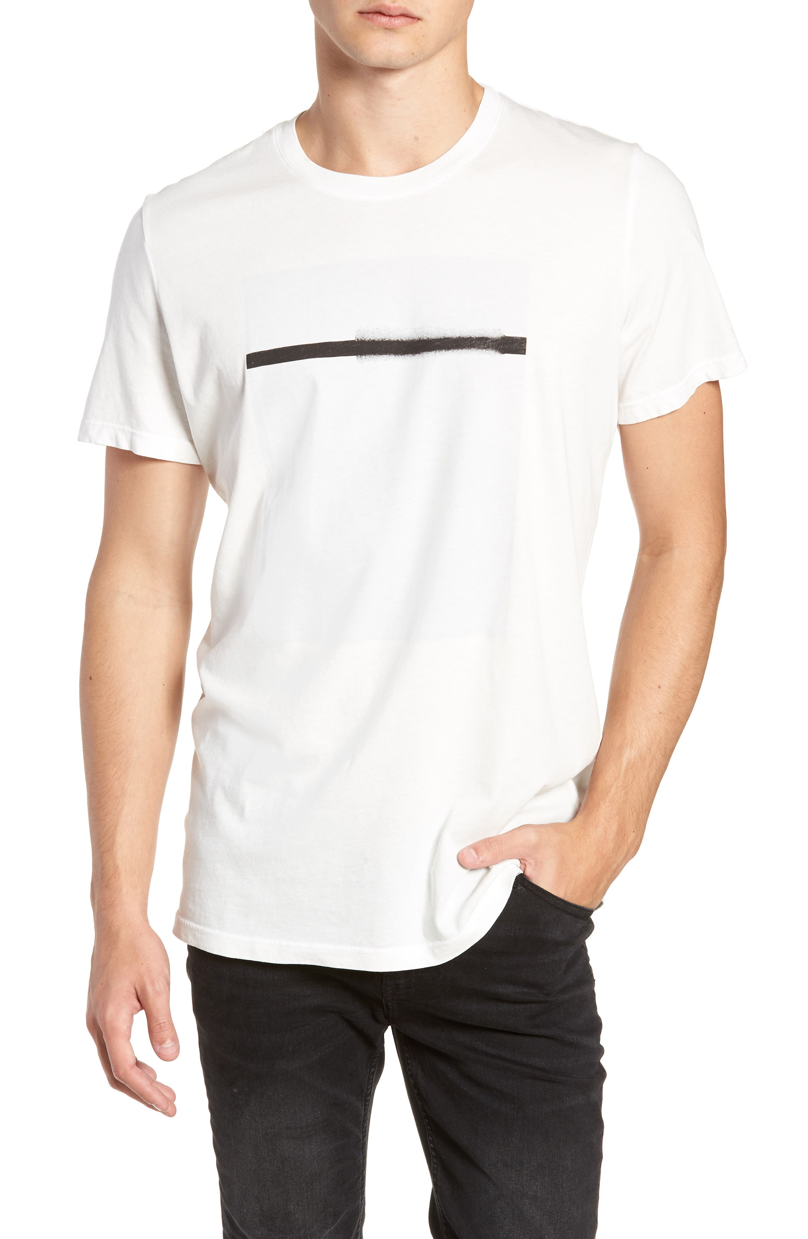 Off White Graphic T-Shirt,                             Main thumbnail 1, color,                             WHITE