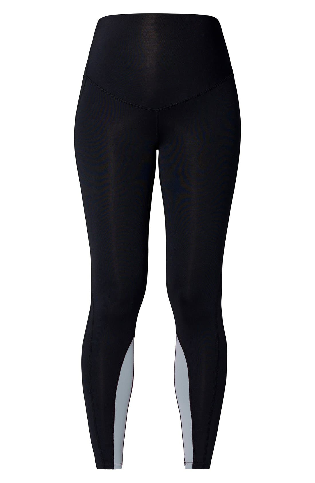 Over the Belly Maternity Sport Leggings,                             Main thumbnail 1, color,                             BLACK