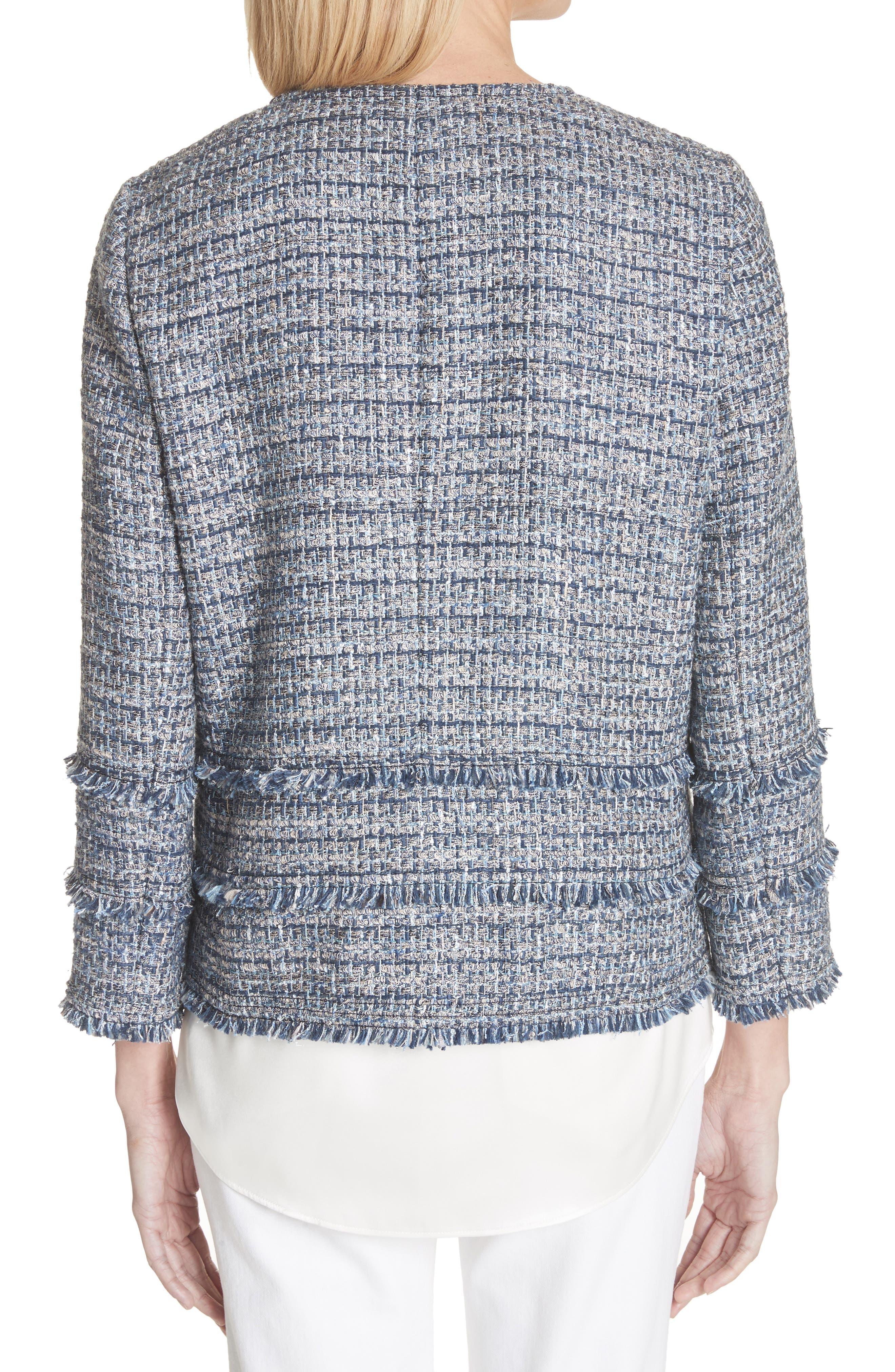 Aisha Exhibition Tweed Jacket,                             Alternate thumbnail 2, color,                             412