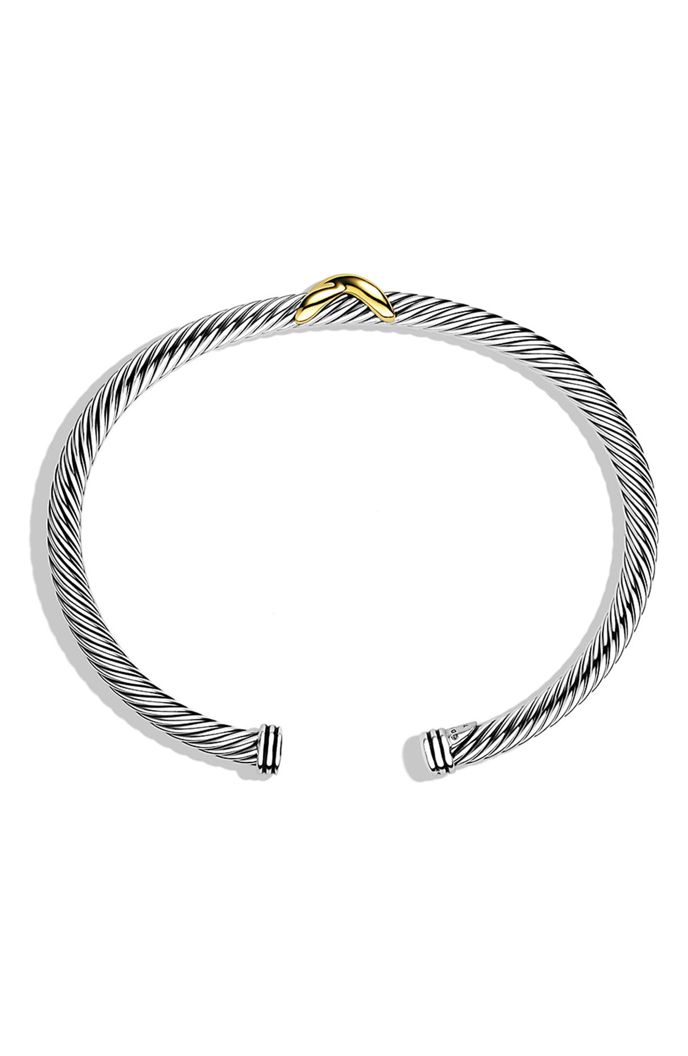 DAVID YURMAN,                             X Cable Bracelet,                             Alternate thumbnail 2, color,                             040