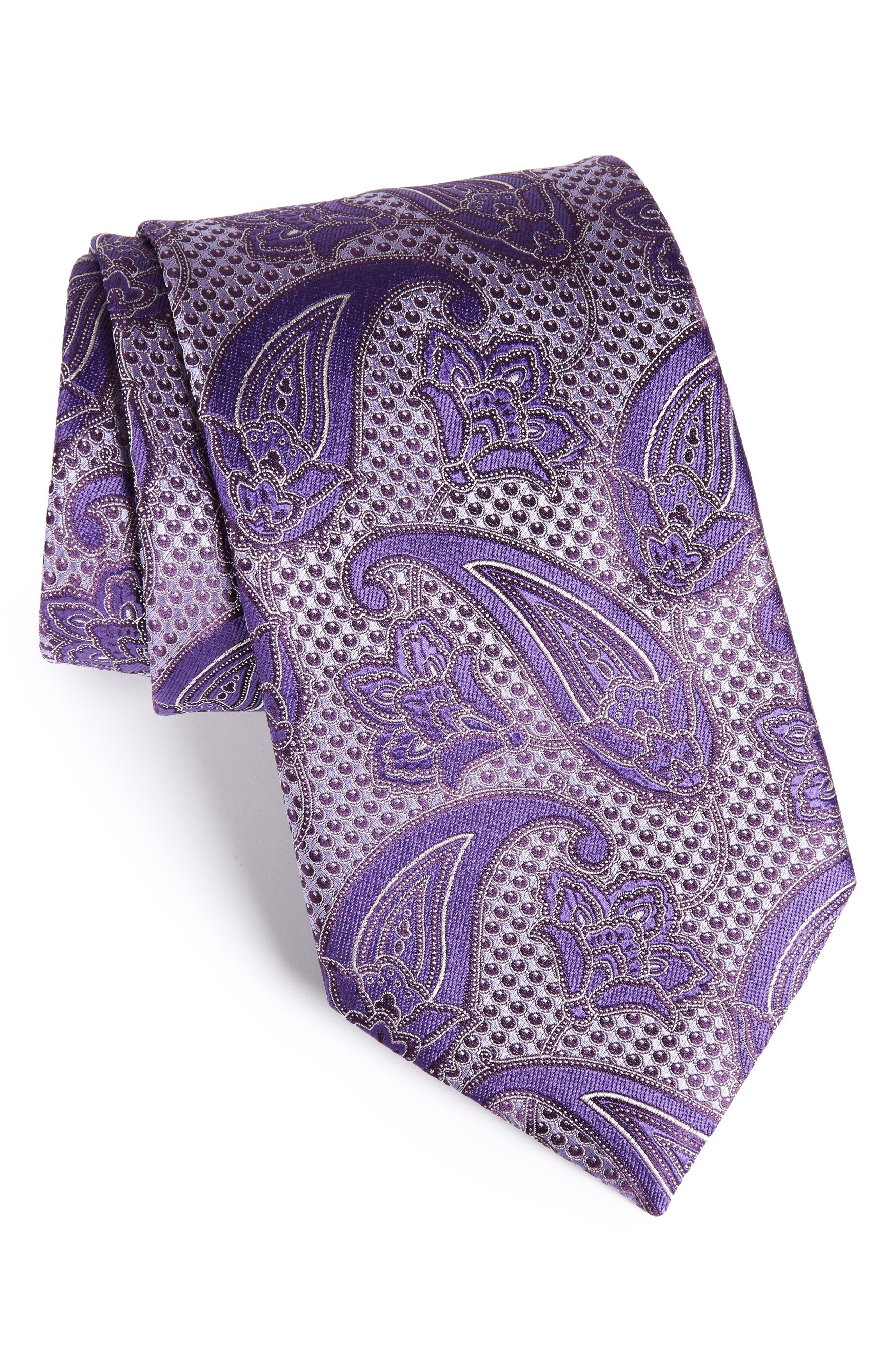 Paisley Silk Tie,                             Main thumbnail 1, color,                             518