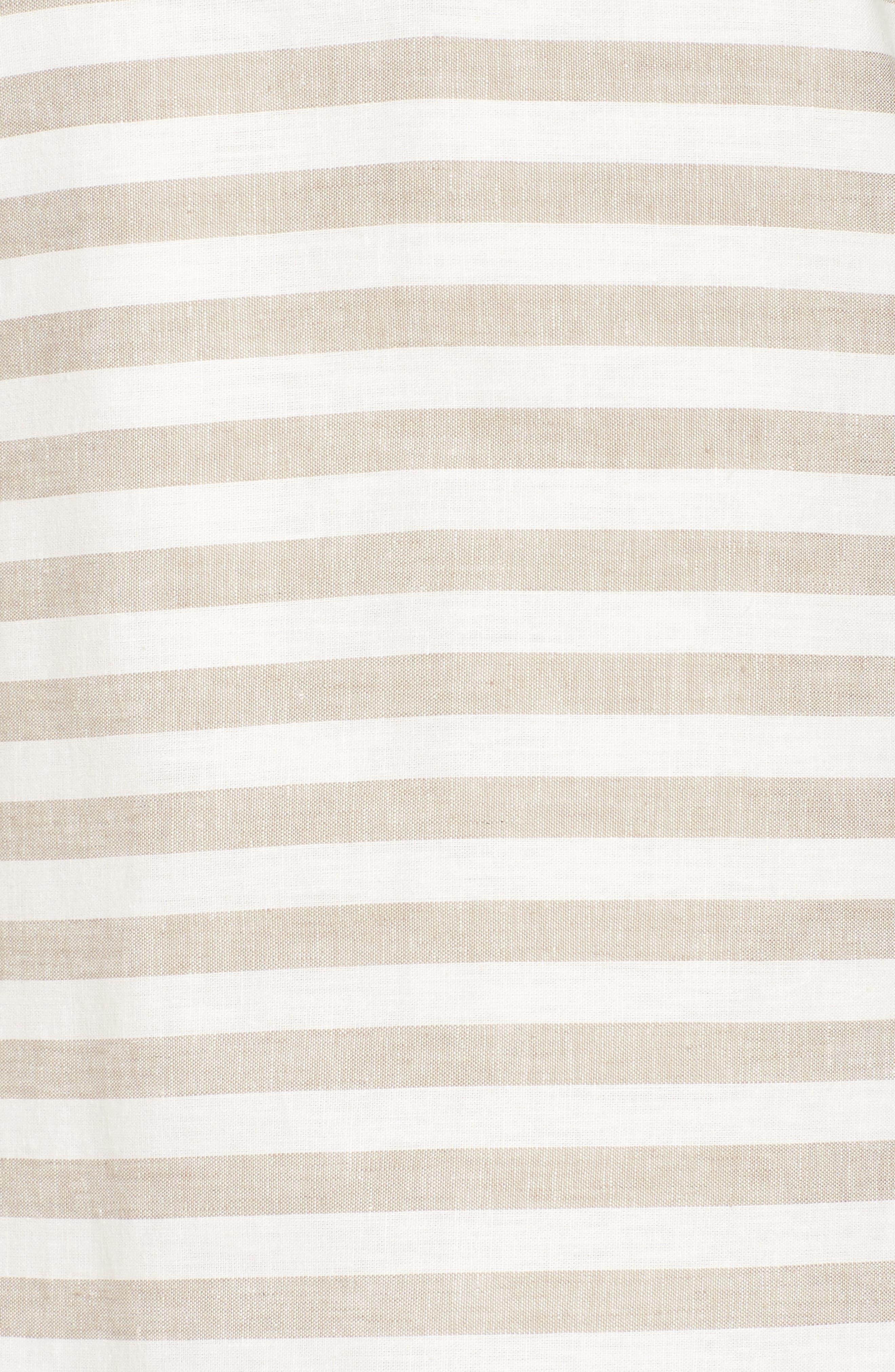 Stripe Linen & Cotton Blend Dress,                             Alternate thumbnail 6, color,                             250