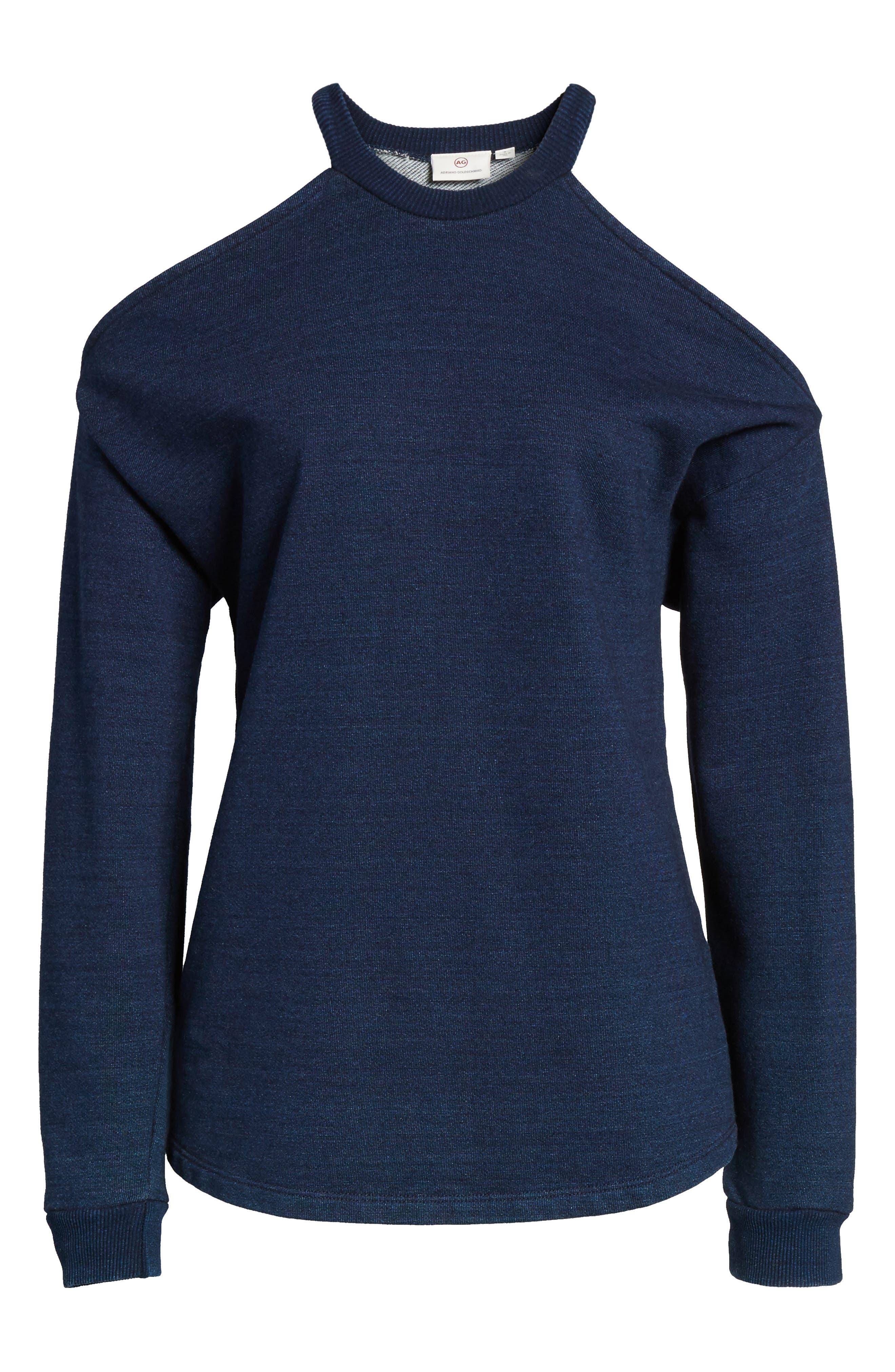 Gizi Cold Shoulder Sweatshirt,                             Alternate thumbnail 7, color,                             489