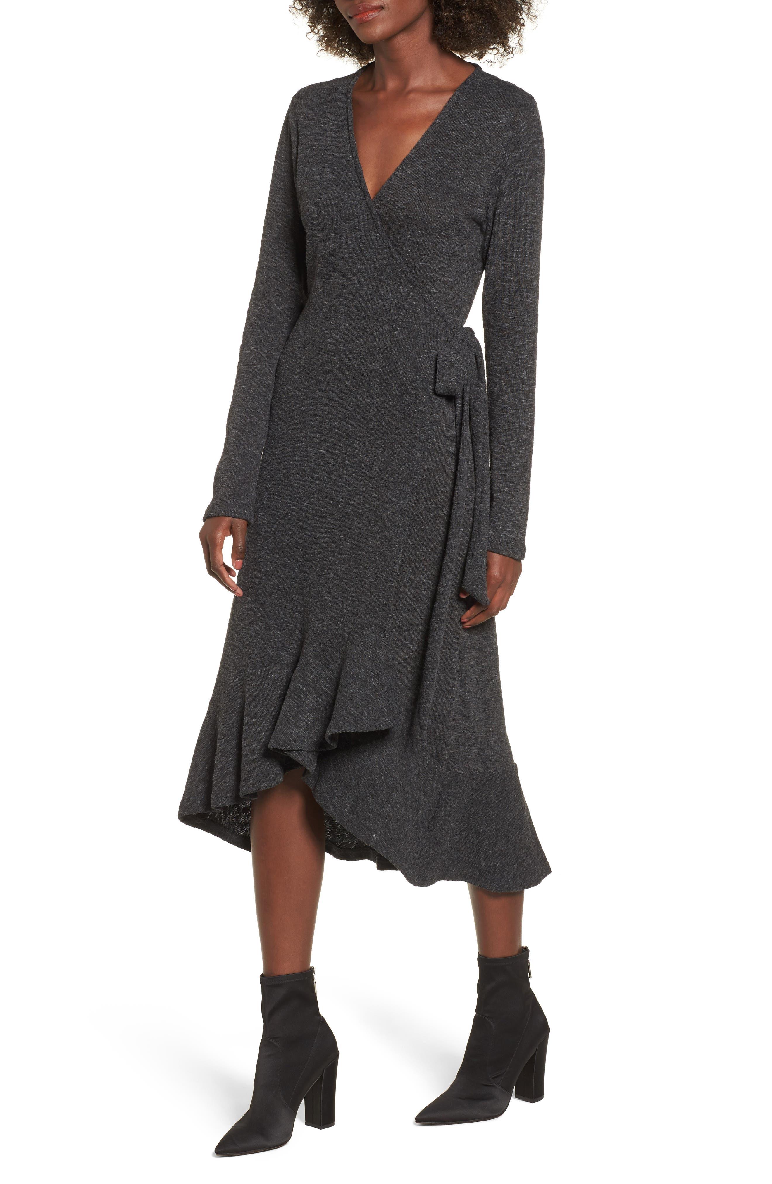 Winter Wandering Wrap Dress,                         Main,                         color, 020
