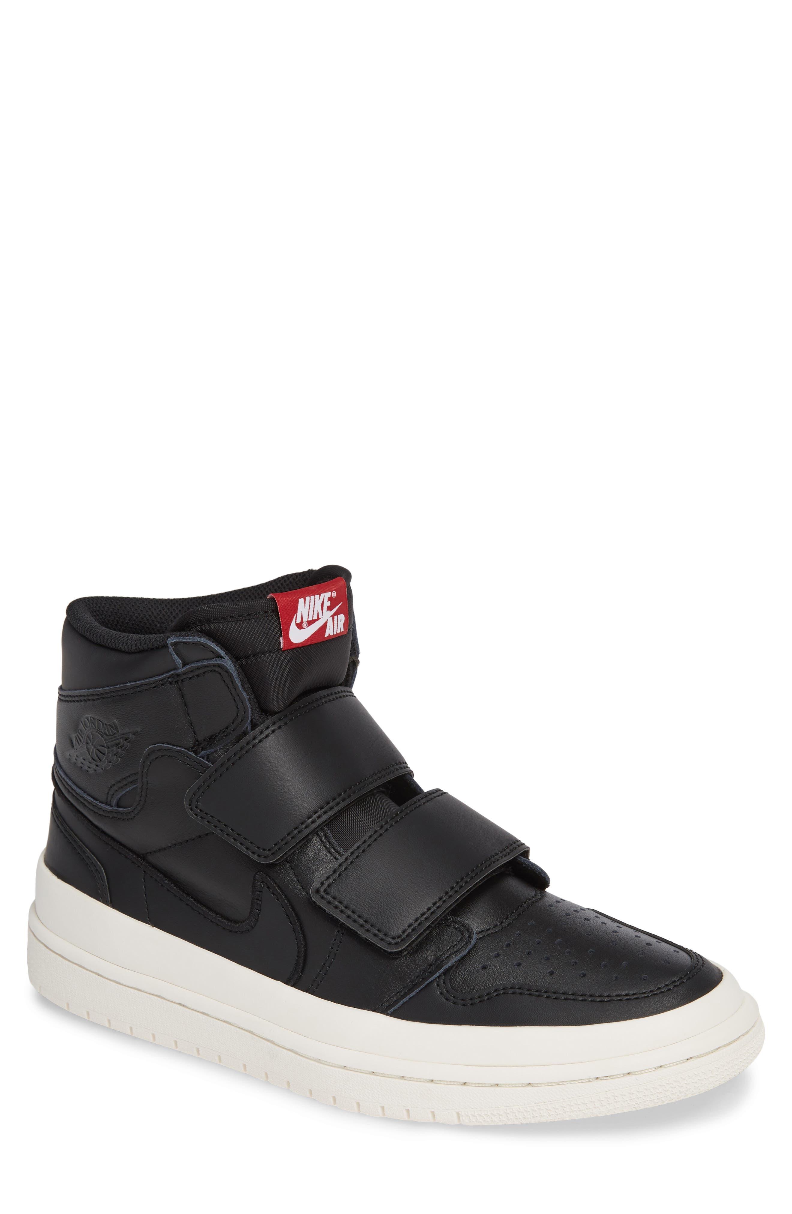 Air Jordan 1 Retro High Double Strap Sneaker,                         Main,                         color, BLACK/ GYM RED