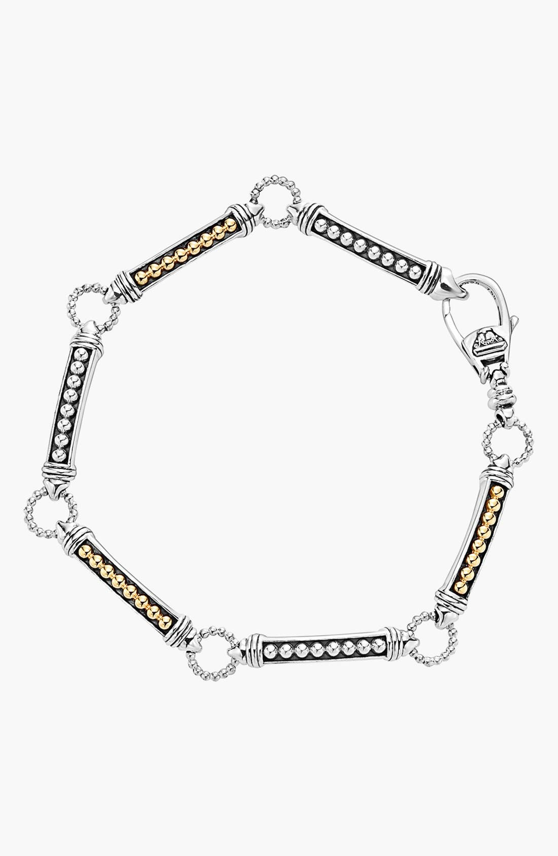 Caviar 'Superfine' Two-Tone Line Bracelet,                             Alternate thumbnail 6, color,                             040