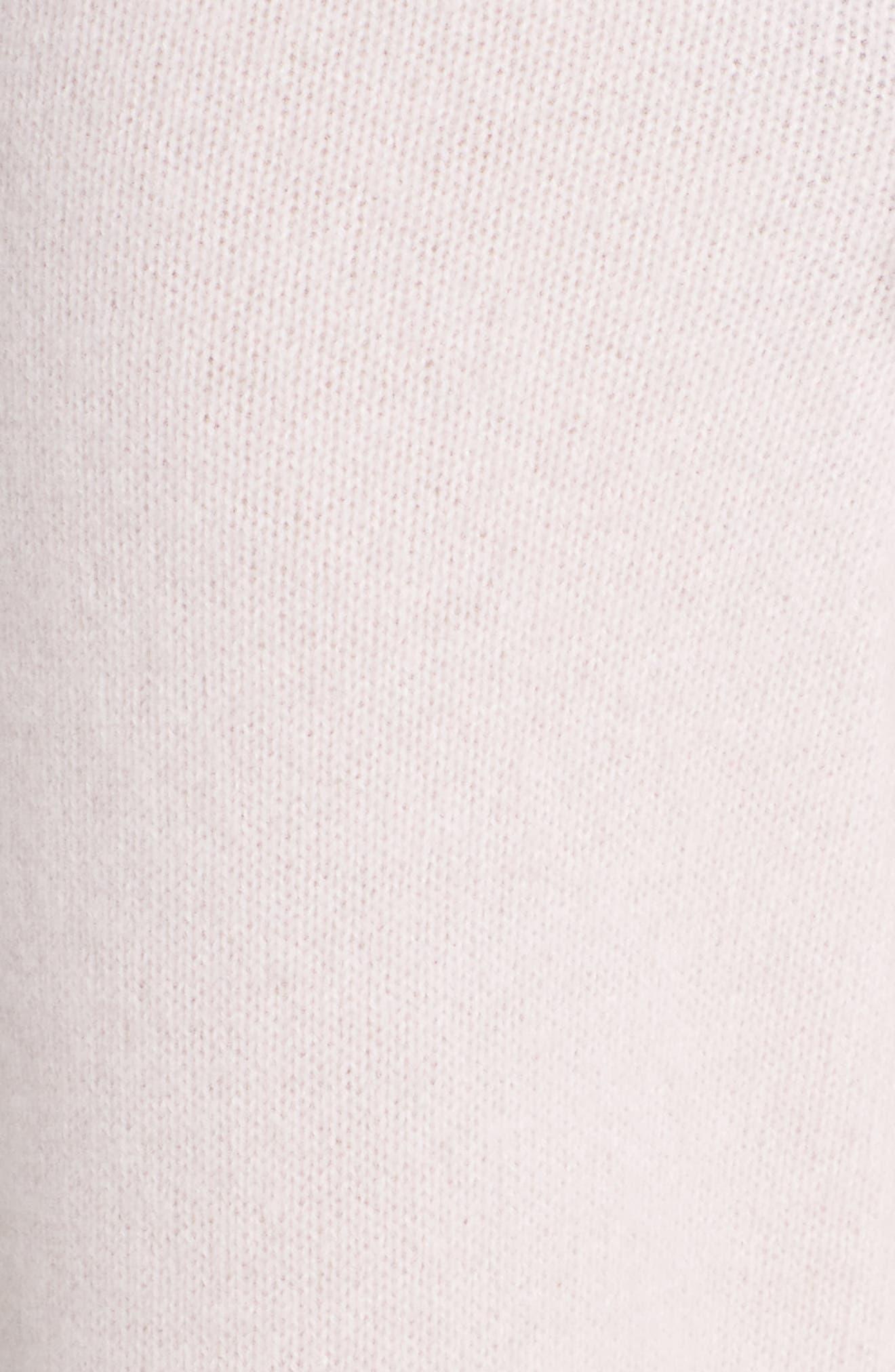 Easy Cashmere & Silk Pants,                             Alternate thumbnail 6, color,                             PINK