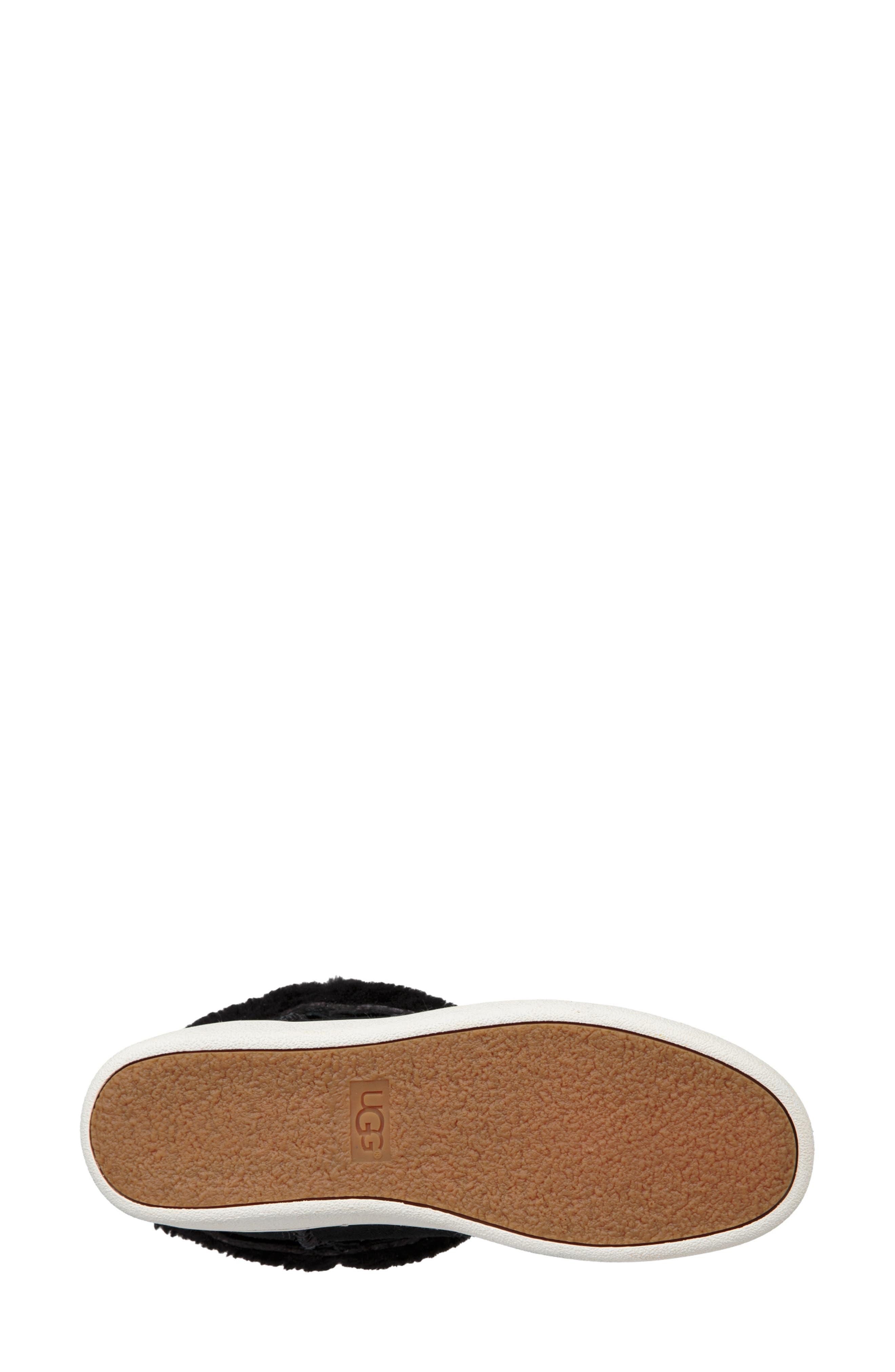 Mika Classic Genuine Shearling Sneaker,                             Alternate thumbnail 6, color,                             BLACK