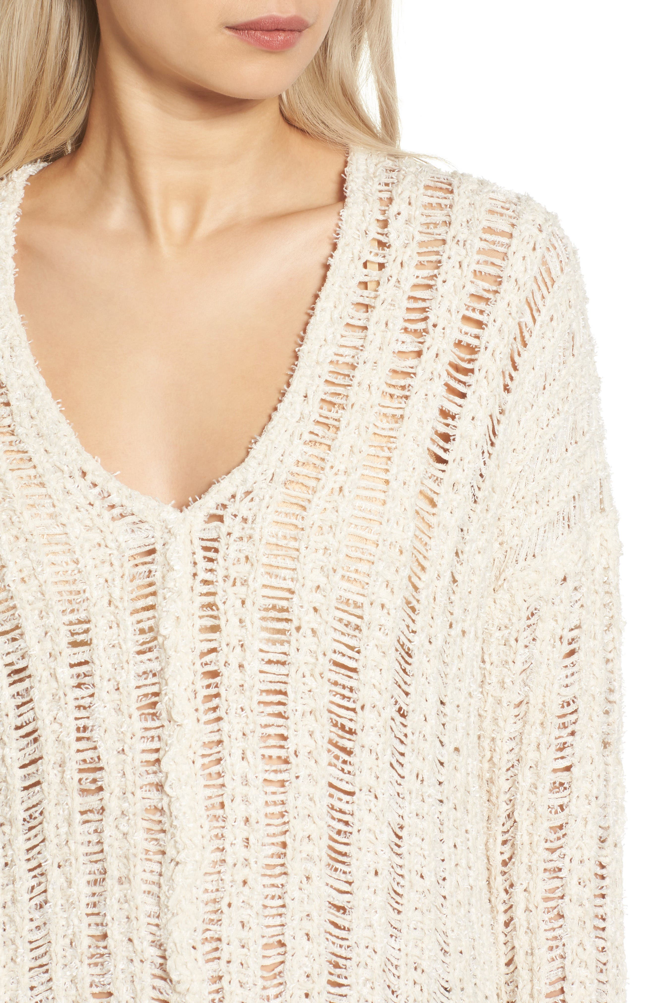 Open Knit Sweater,                             Alternate thumbnail 8, color,