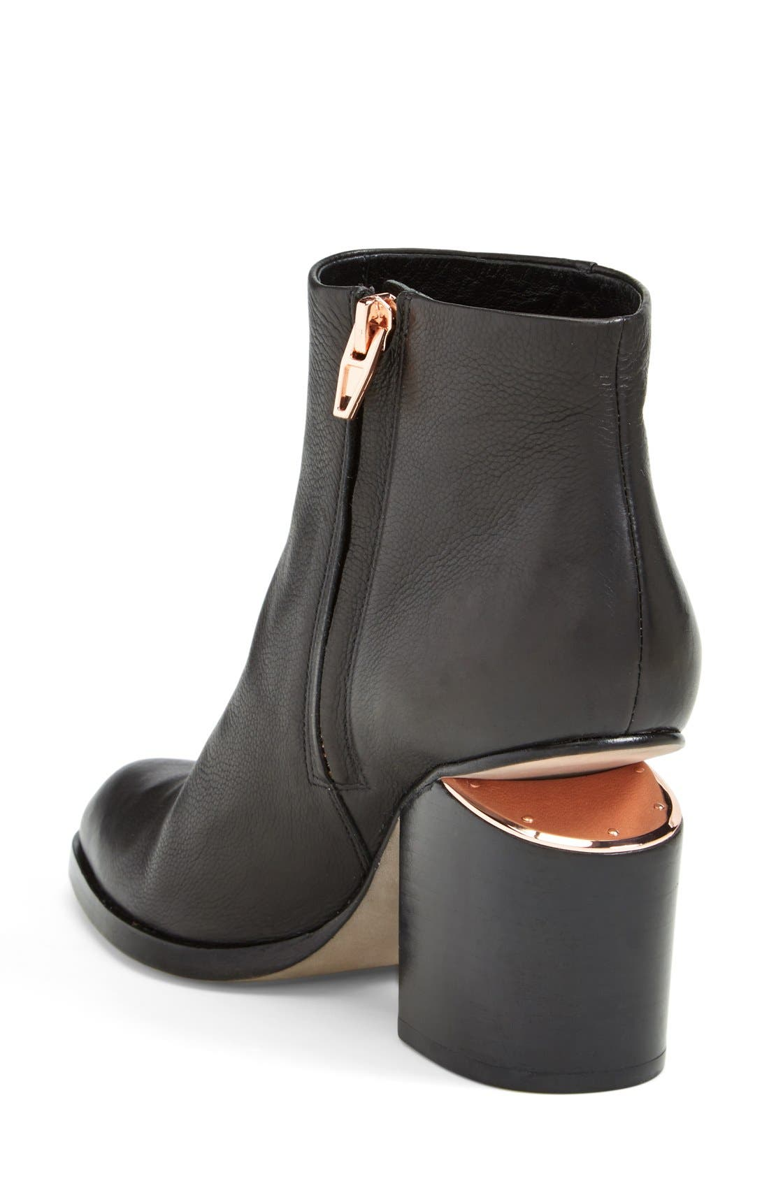 Gabi Bootie,                             Alternate thumbnail 3, color,                             BLACK LEATHER