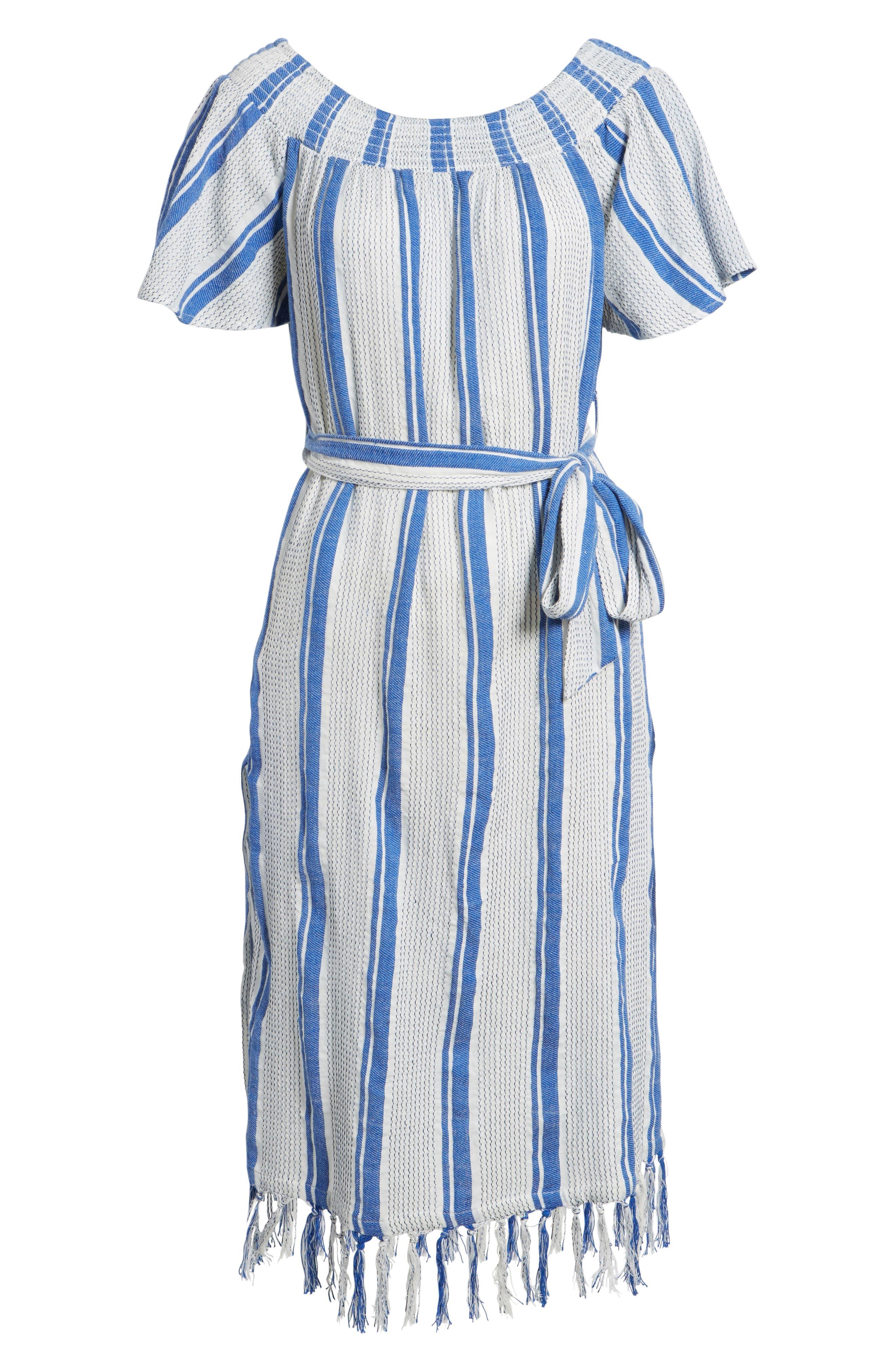Bora Bora Tie Waist Dress,                             Alternate thumbnail 6, color,                             100