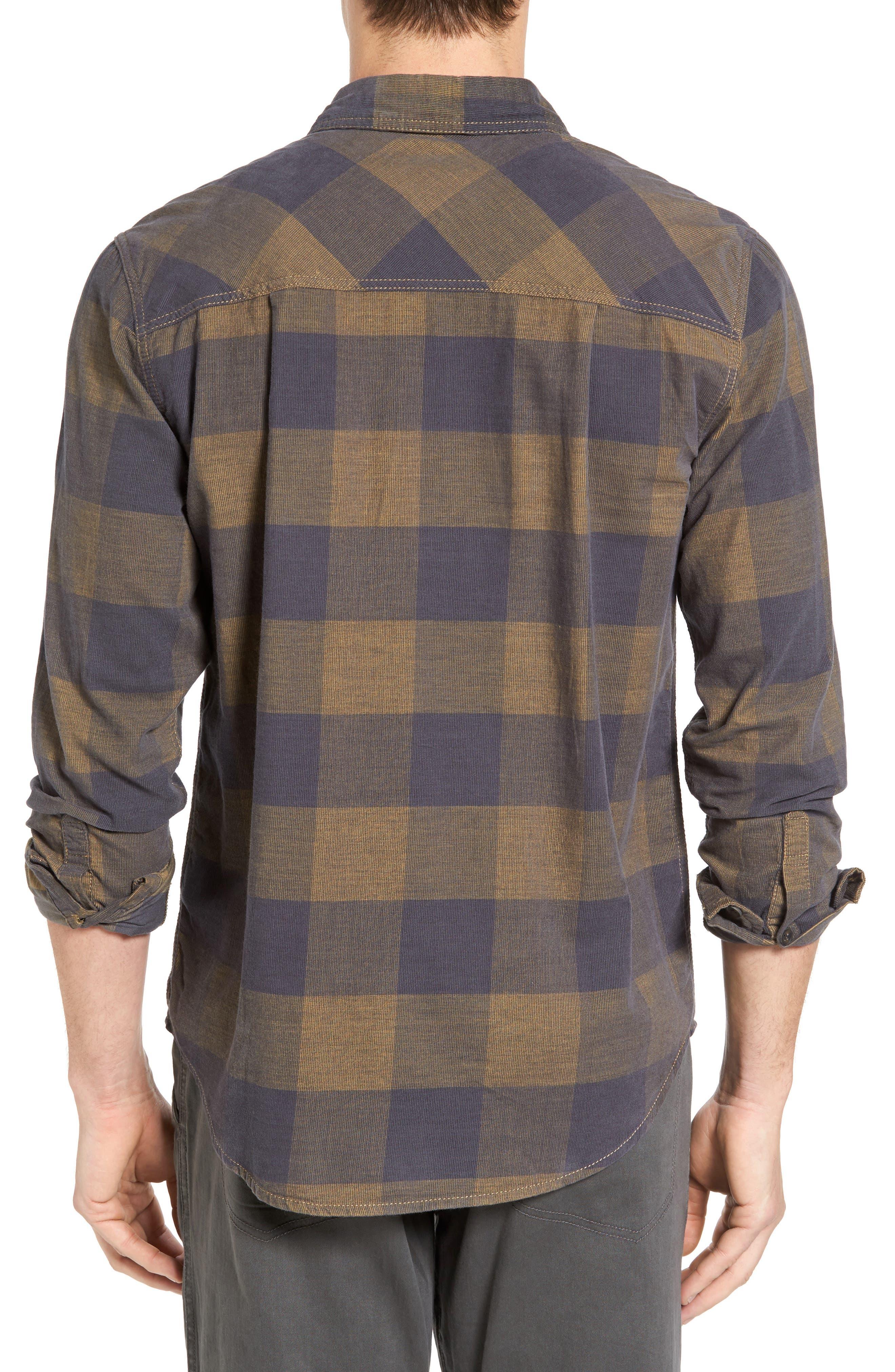 Knock on My Door Regular Fit Check Corduroy Shirt,                             Alternate thumbnail 5, color,