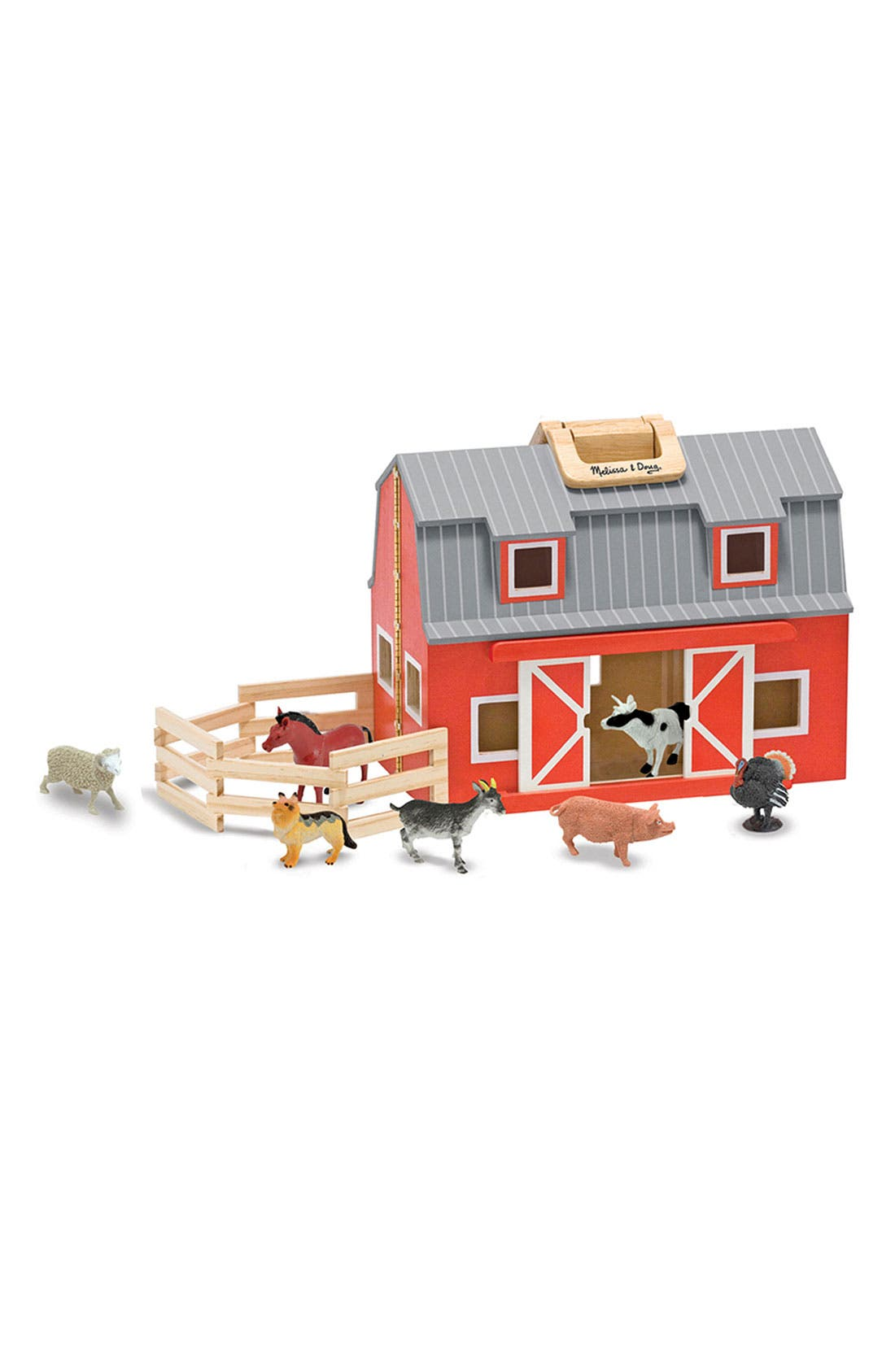 'Fold & Go' Play Set,                         Main,                         color, WOOD/ RED