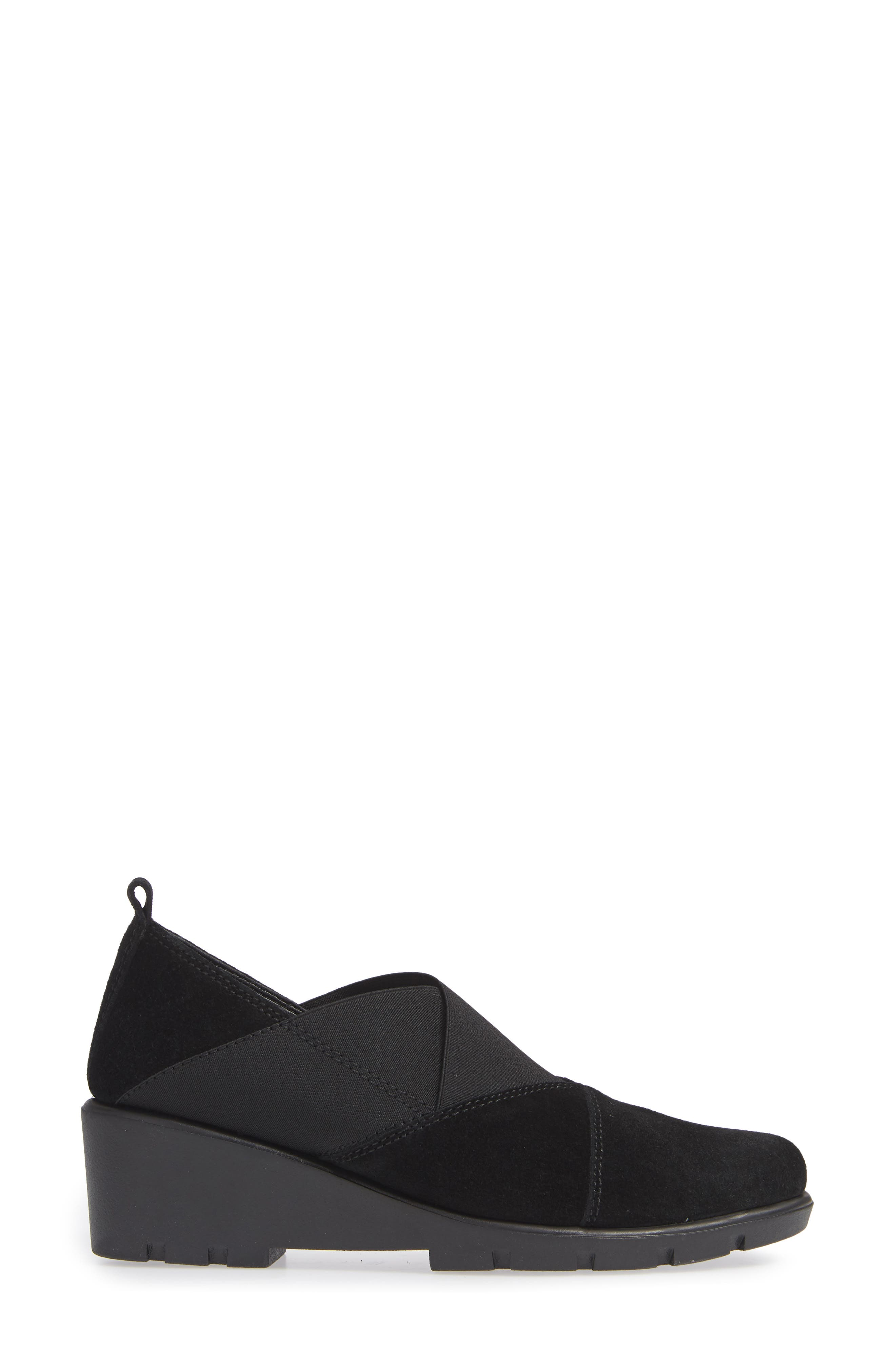 Crosstown Slip-On Shoe,                             Alternate thumbnail 3, color,                             BLACK SUEDE