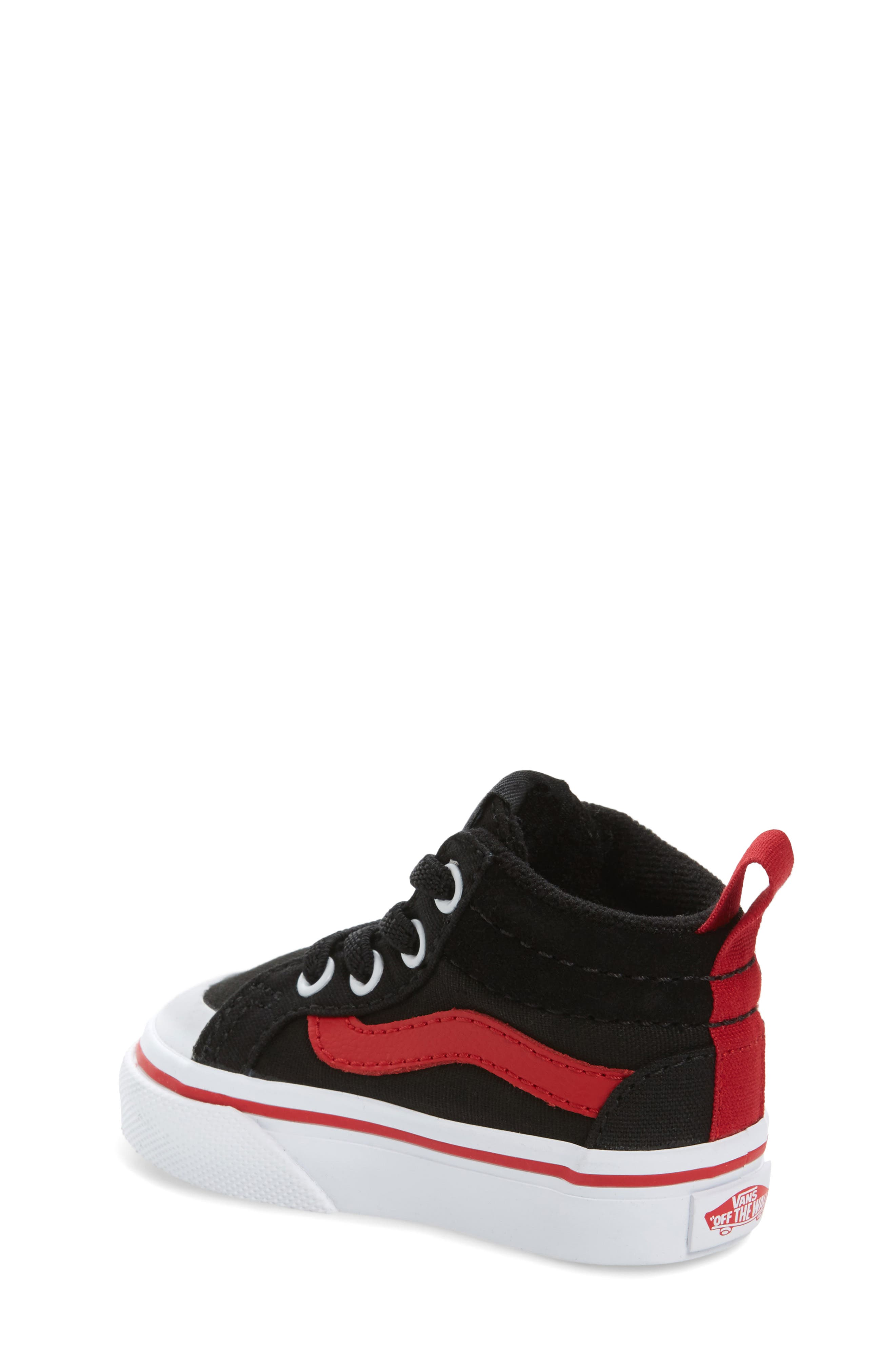 Racer Mid Elastic Lace Sneaker,                             Alternate thumbnail 13, color,