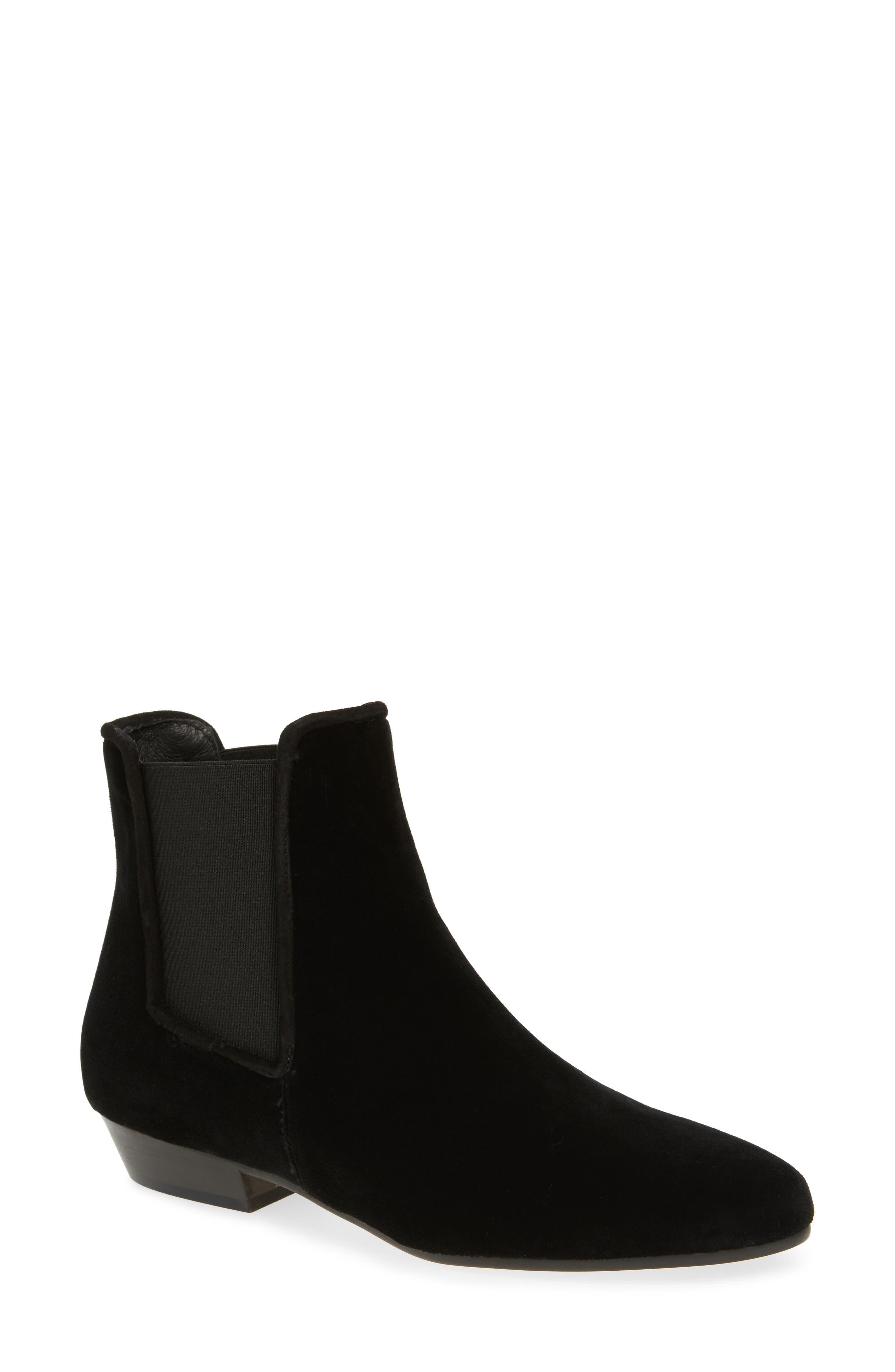 Cooper Velvet Chelsea Boot,                         Main,                         color, 001
